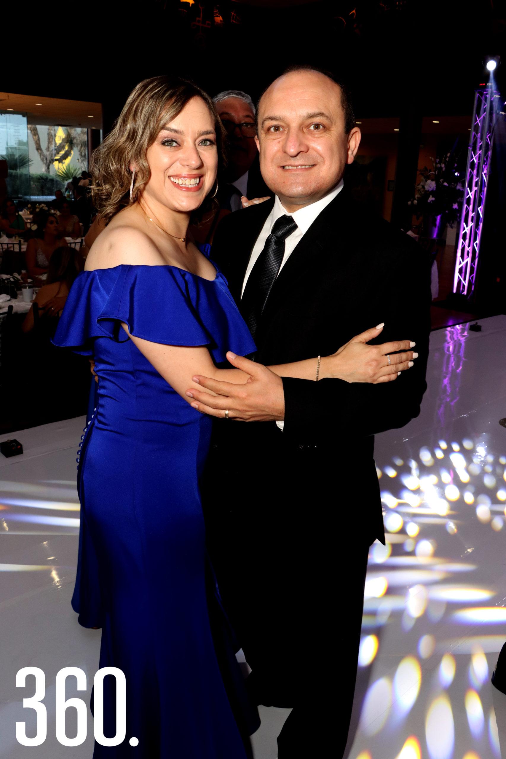 Gaby Siller y Carlos Macías.