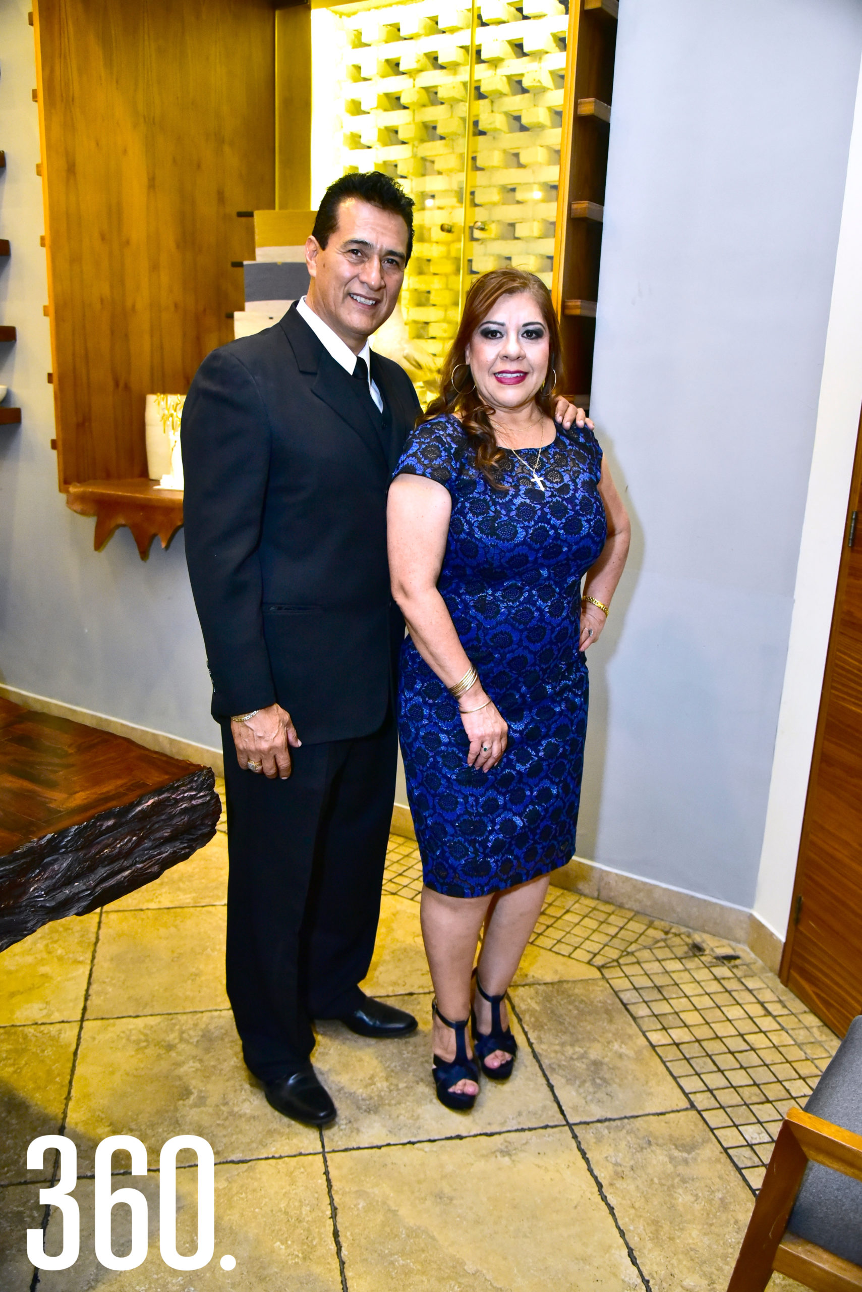 Javier Villaseñor y Elsa Nelly Coss.