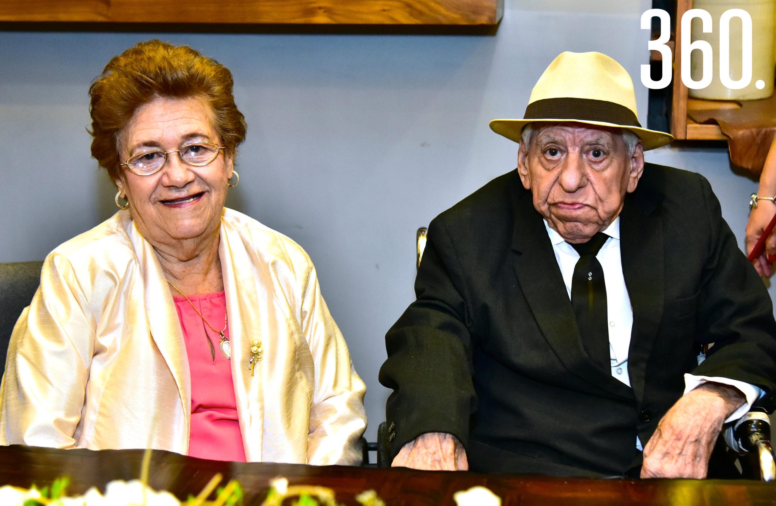Trini Sánchez y Pedro Coss.