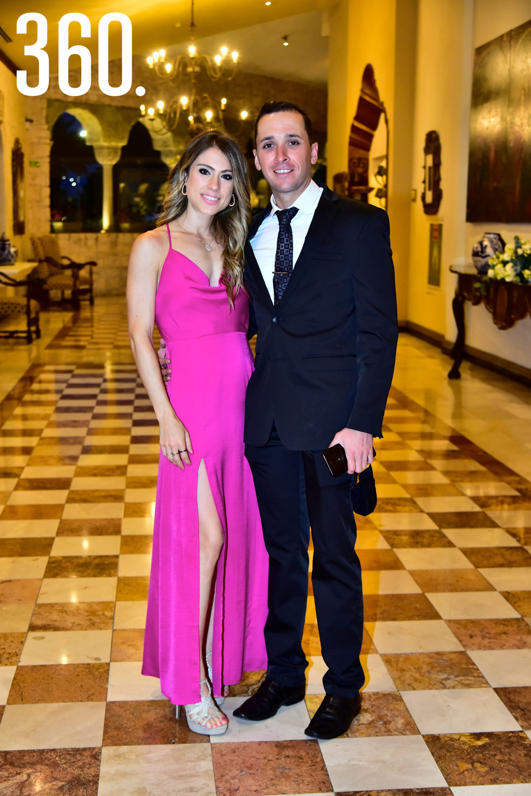 Paulina Cárdenas y Diego López.