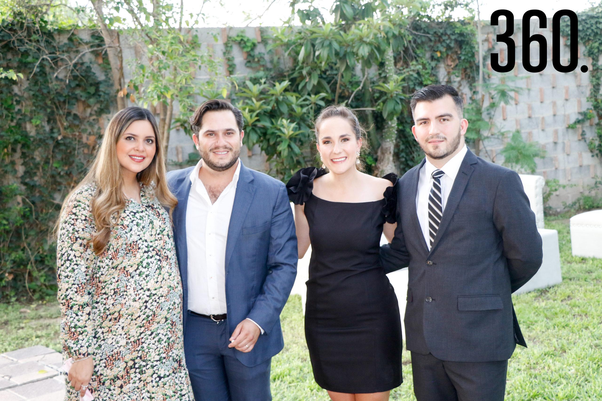 Gabriela Gómez, Eduardo Peart, Orvilia Flores y Rafael Reyes.