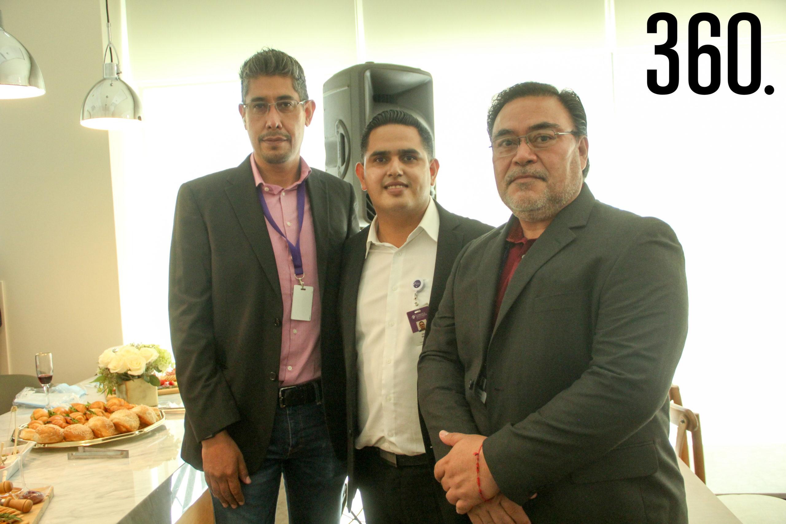 Antonio Sánchez, Omar Huerta y Adrián Vargas.