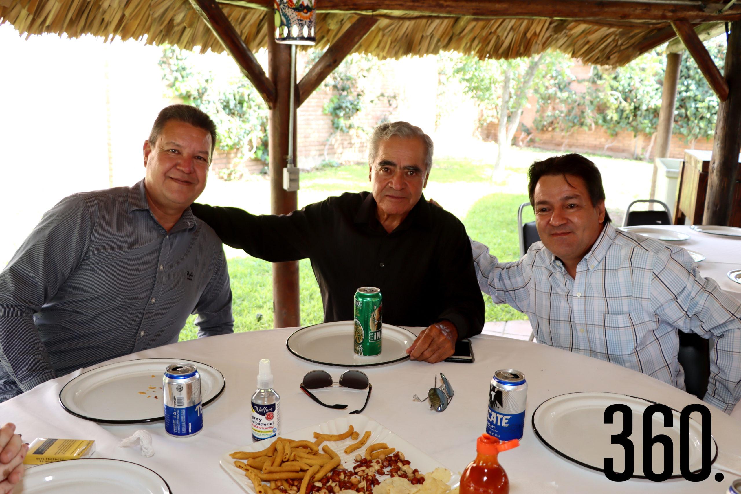 Felipe Calderón, Helio Guerrero y Rolando Saucedo.