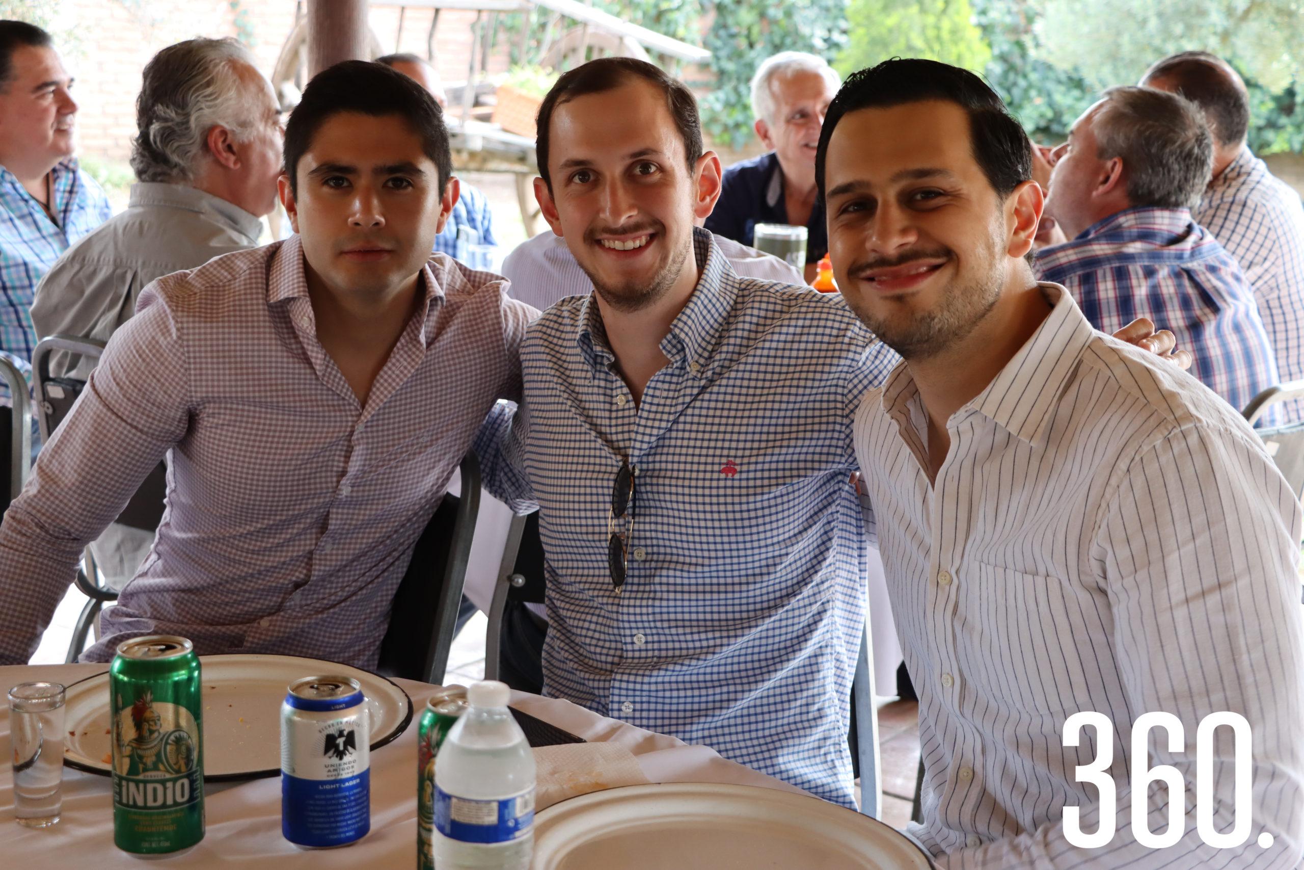 Adolfo Gaytán, José Luis Dávila y Luis Sepúlveda.