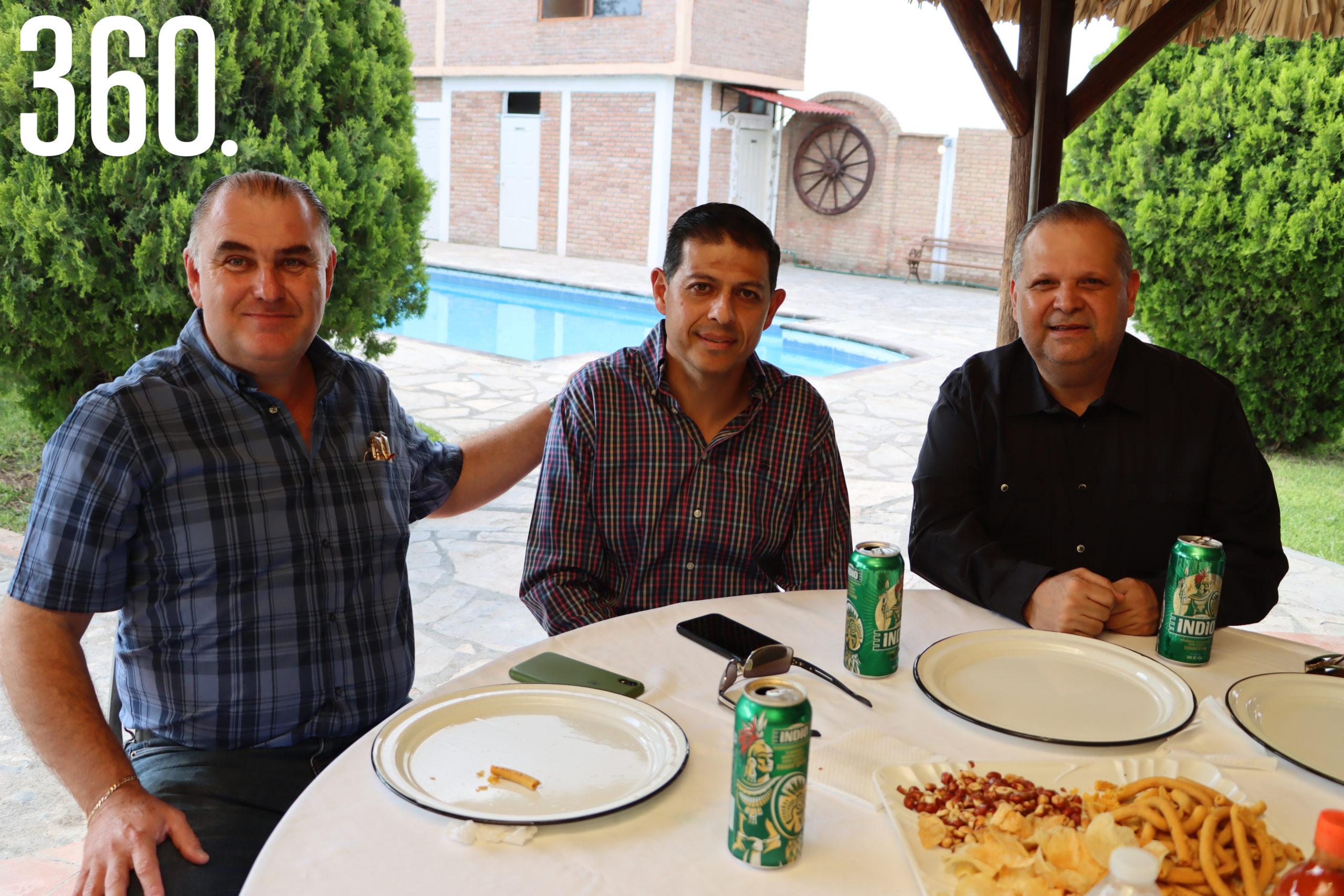 José Luis Dávila, Octavio Pimentel y Armando Carbajal.