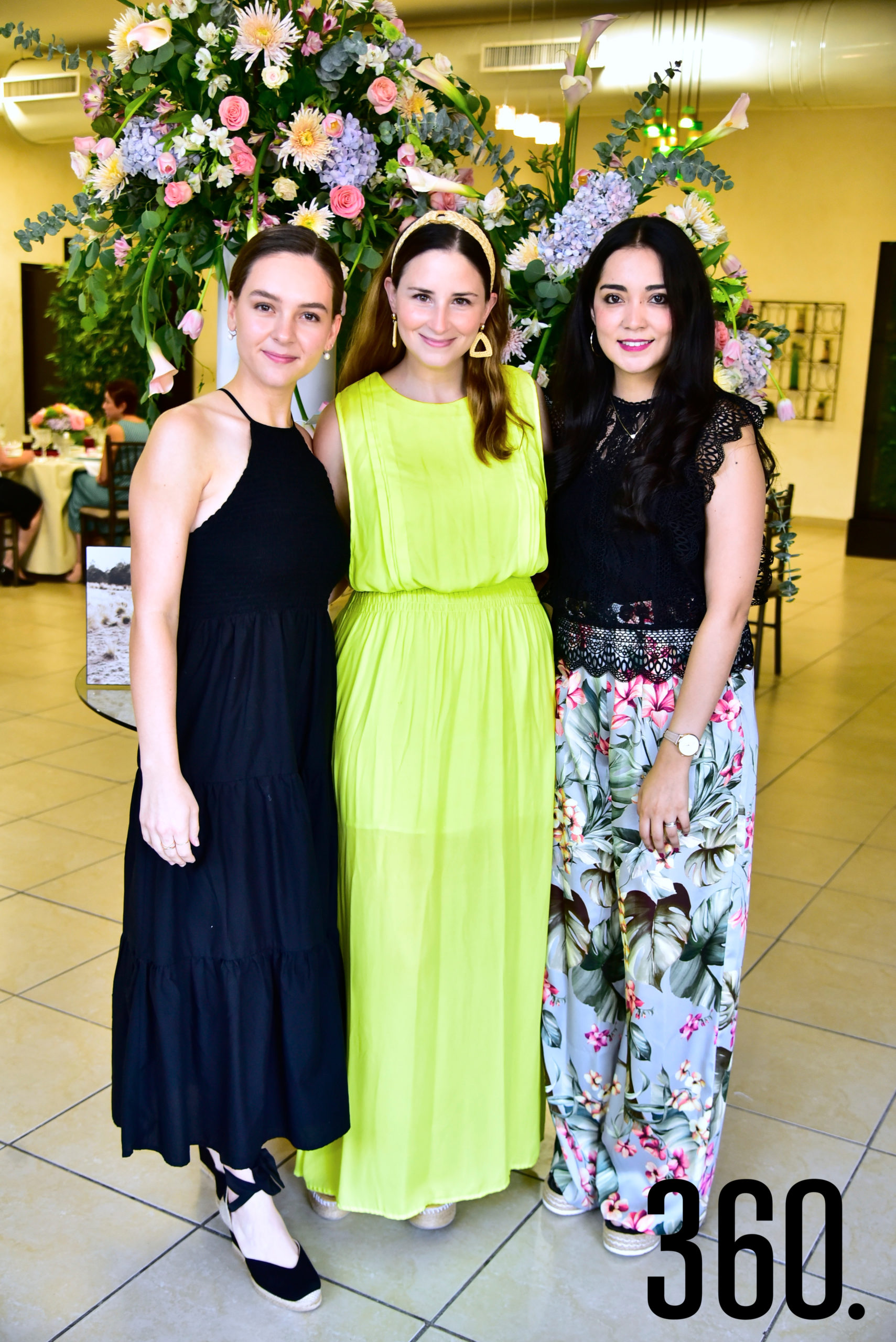 Luly Mijares, Ana Camacho y Maru Garza.