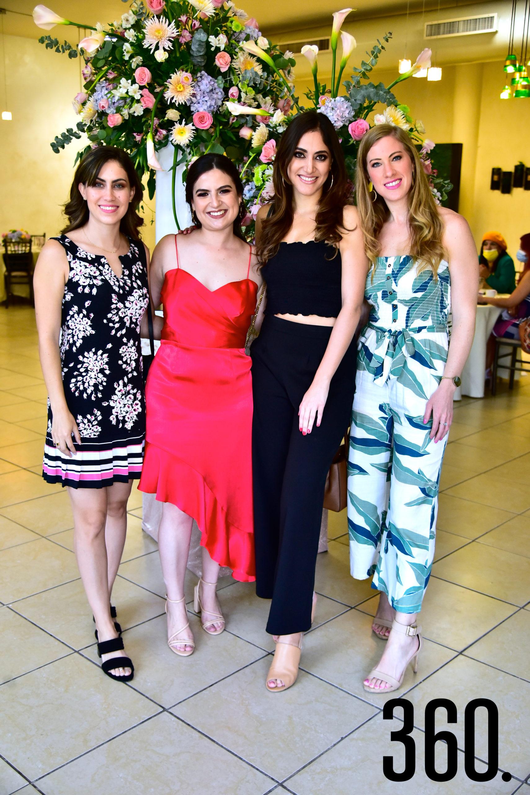 Marimar Treviño, Ana Sofía Saucedo, Rosa Claudia Rodríguez y Carolina Cárdenas.