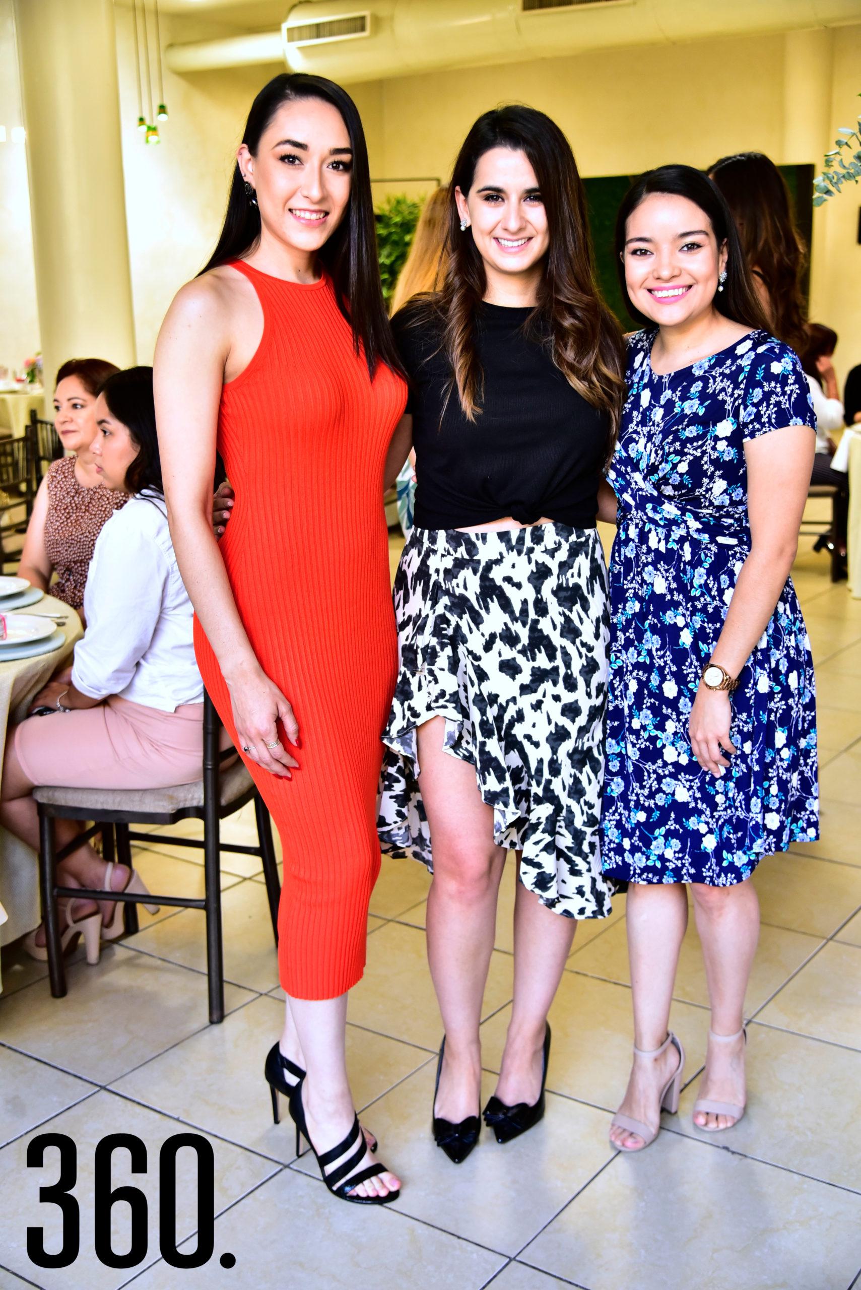 Andrea García, Leila Saade y Mariana Luna.
