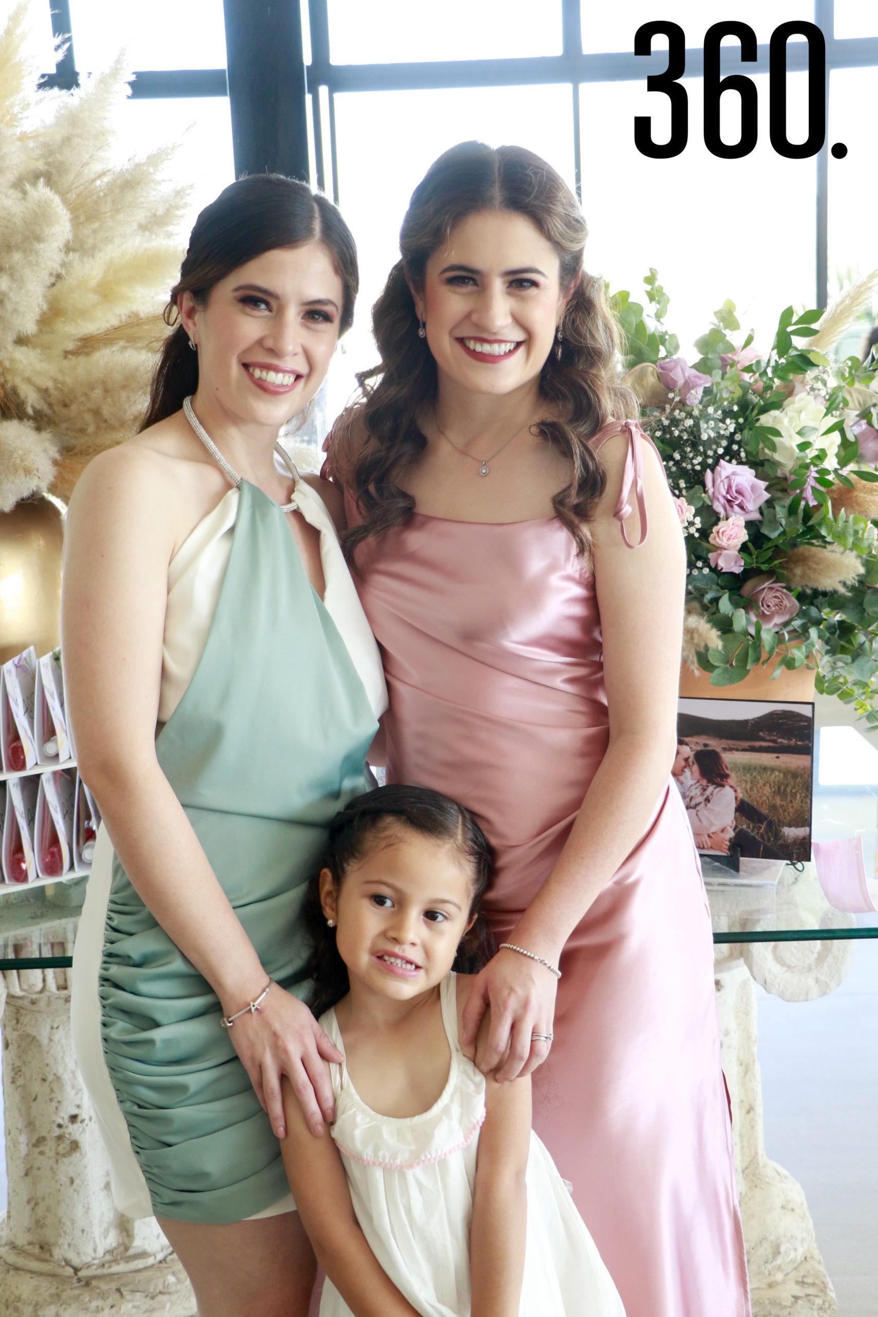 Andrea Fuentes, Paulina Fuentes y María Paulina Aguirre.