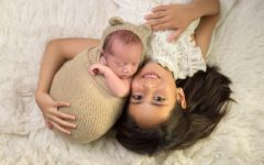 Gerardo con su hermana Carolina.