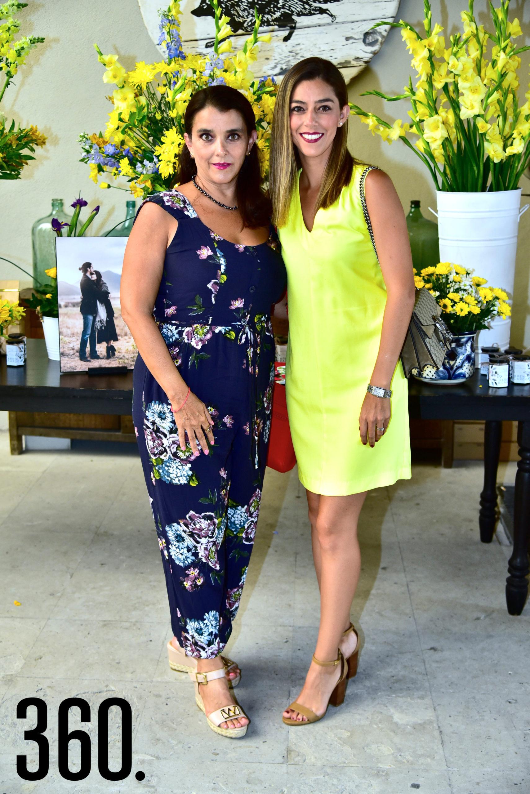Claudia Córdova y Claudia Yates.