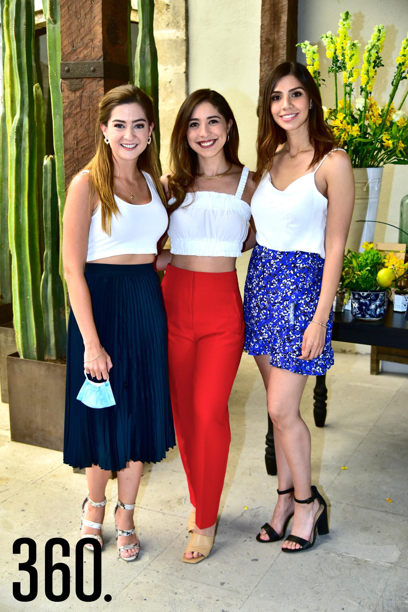 Paulina Arsuaga, Dulce Treviño y Pamela Reyna.