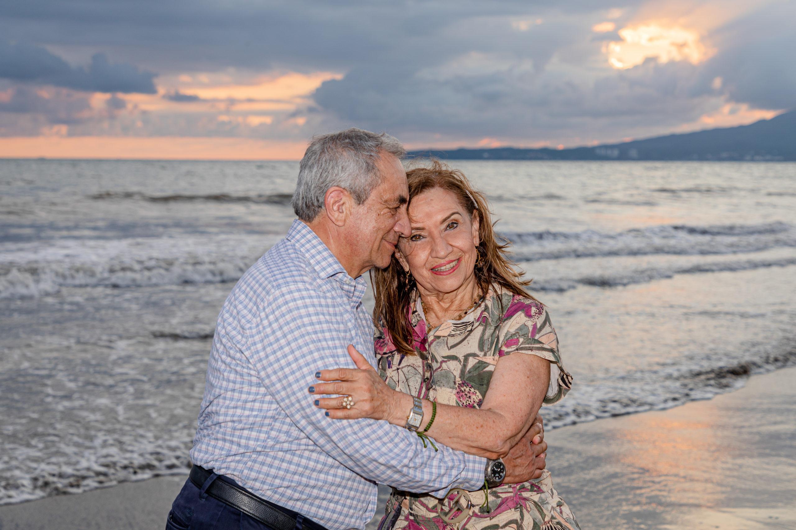 La feliz pareja.