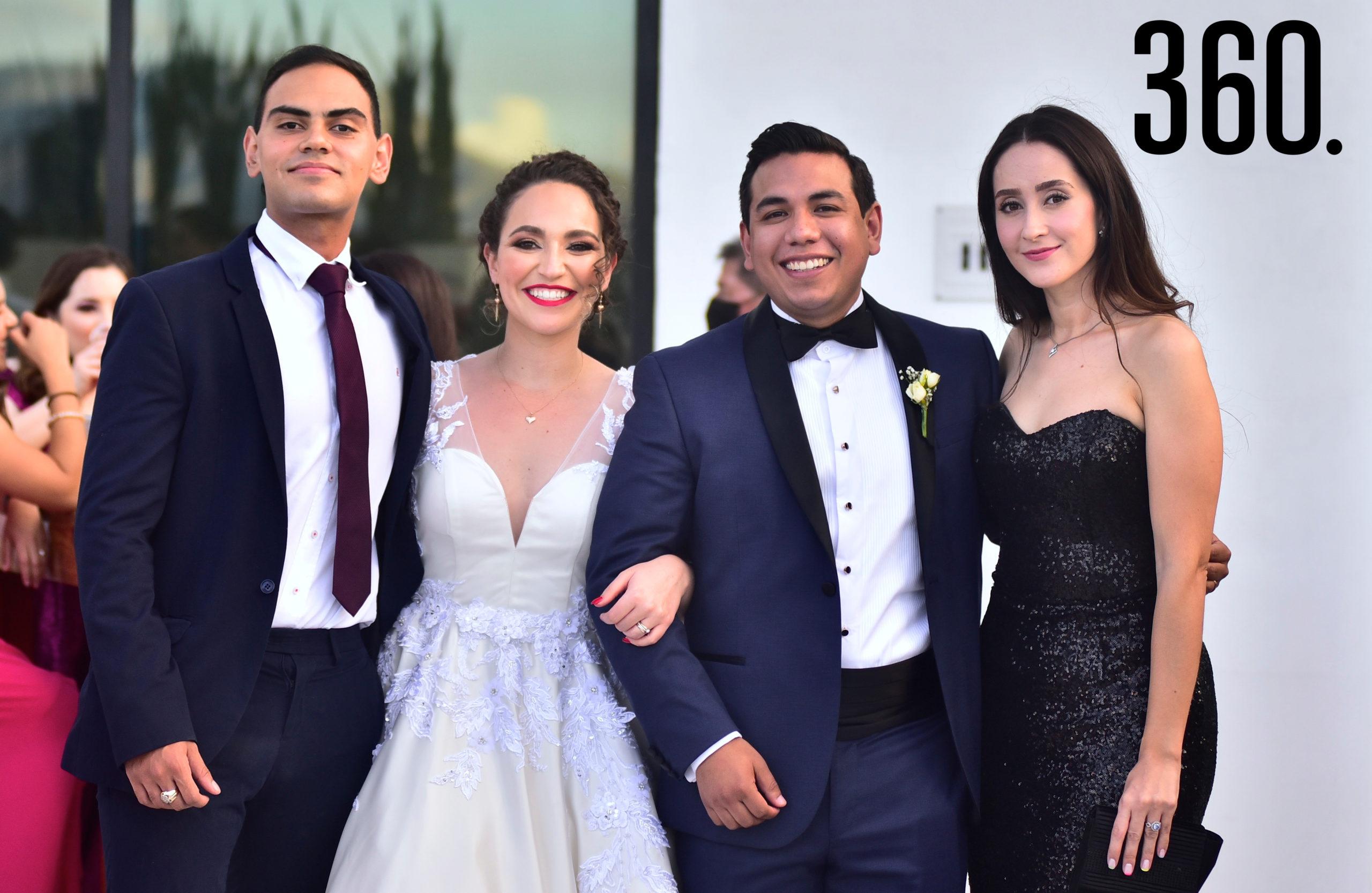 Luis Fierro, Ana Cecilia Romero, Fabián Trujillo y Daniela Díaz.