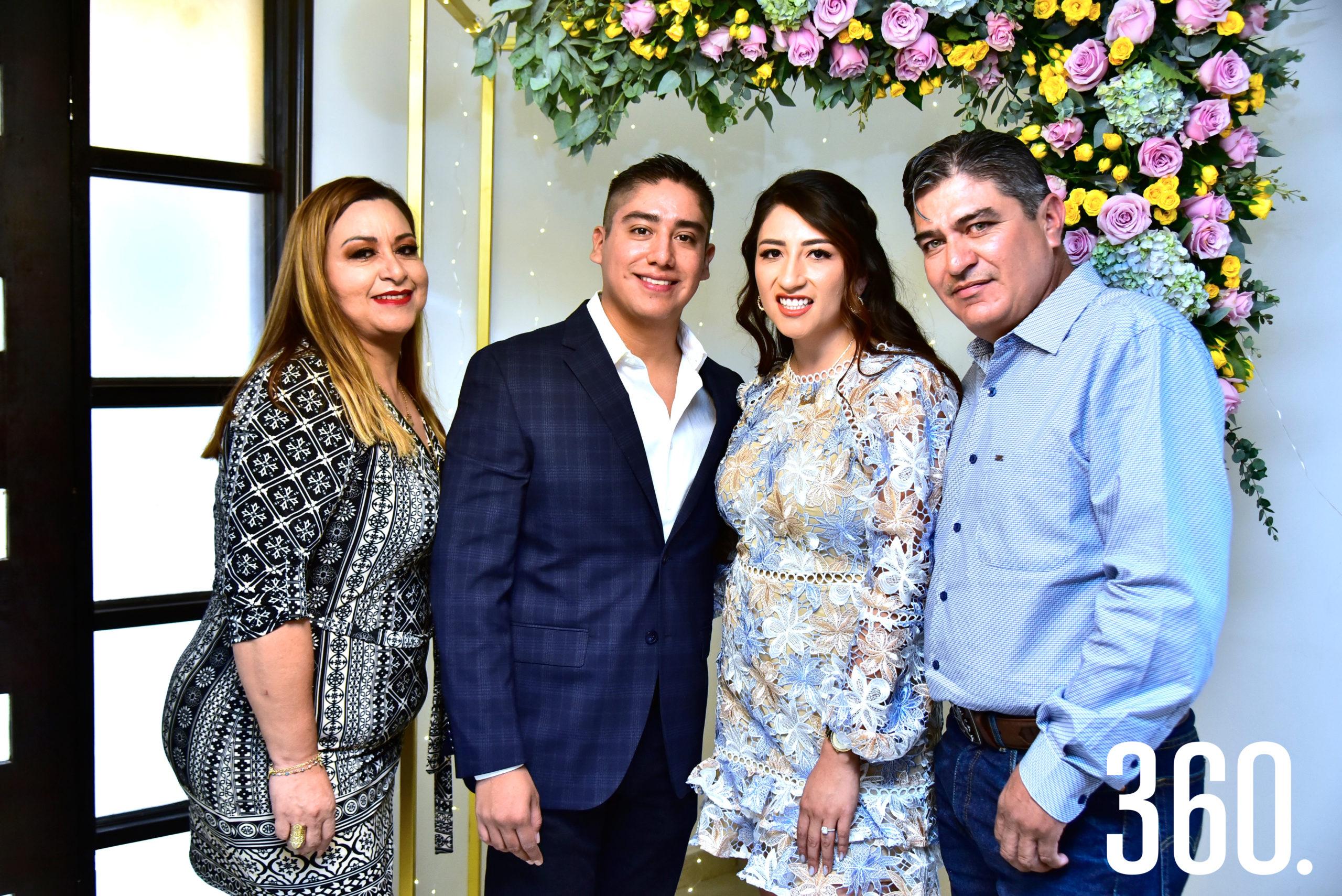 Mayra García, Jonathan Jiménez, Janeth Espinosa y Edgar Espinosa.