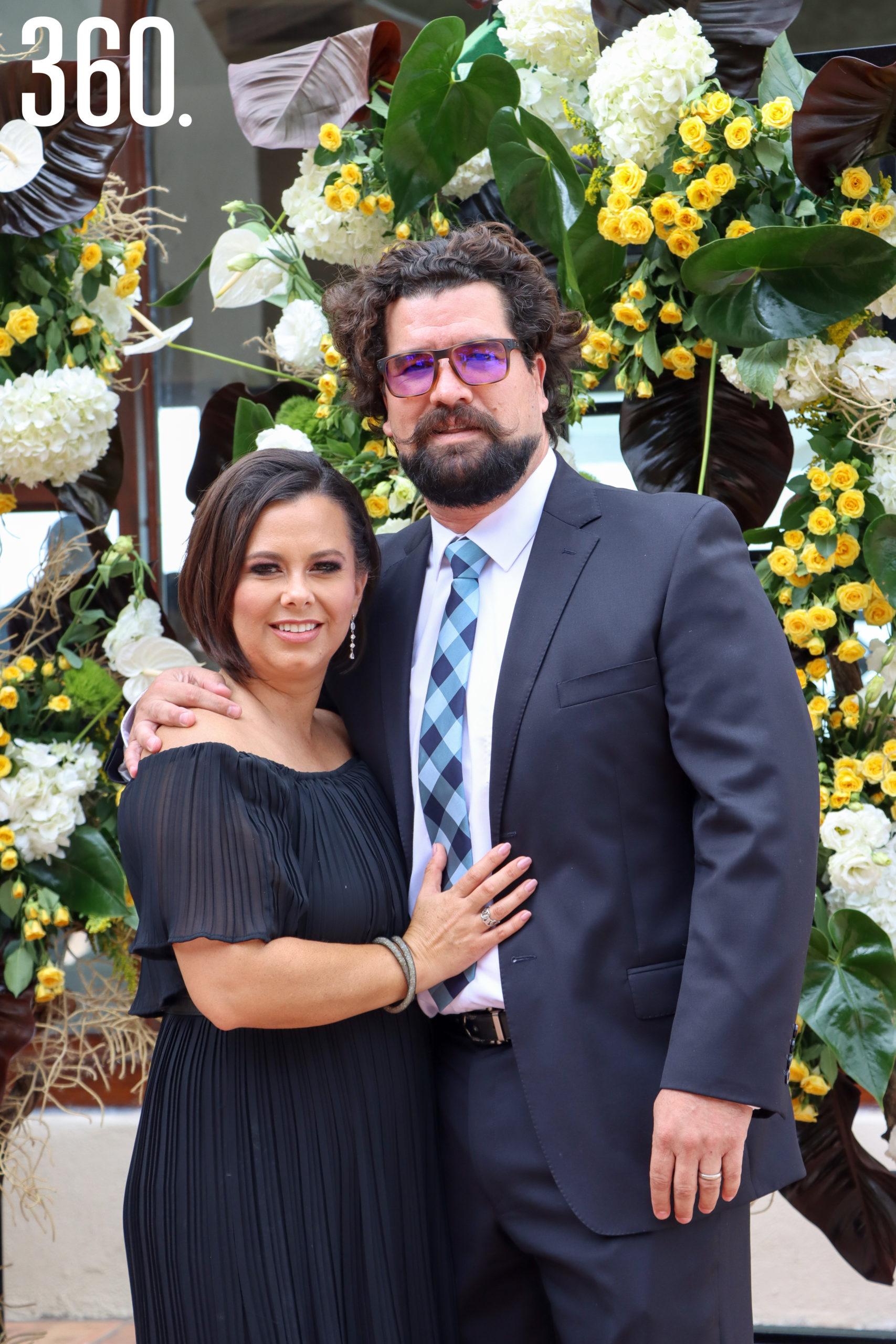 Angie Pedraza y Eduardo Legorreta.