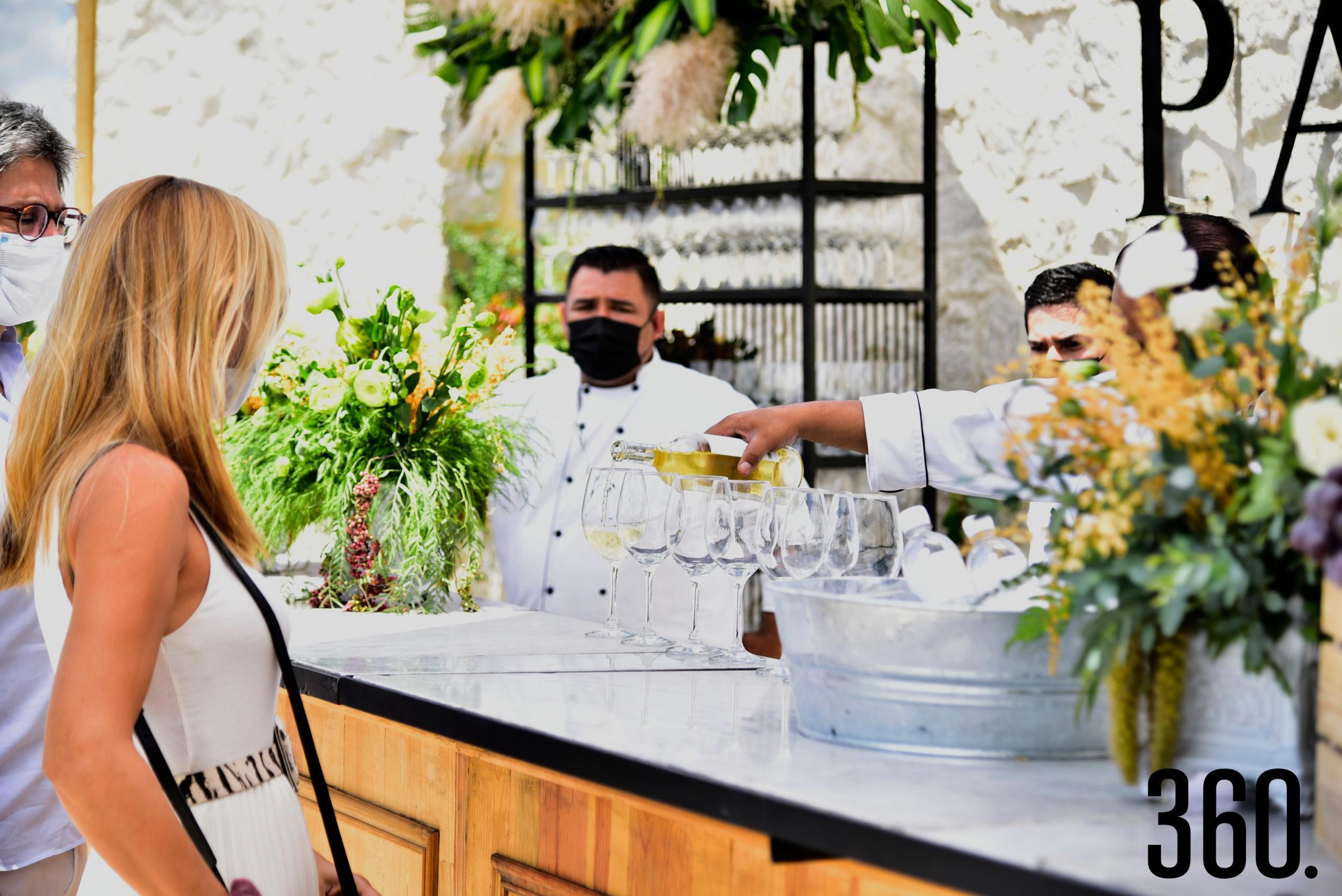 Los vinos que degustaron los invitados.