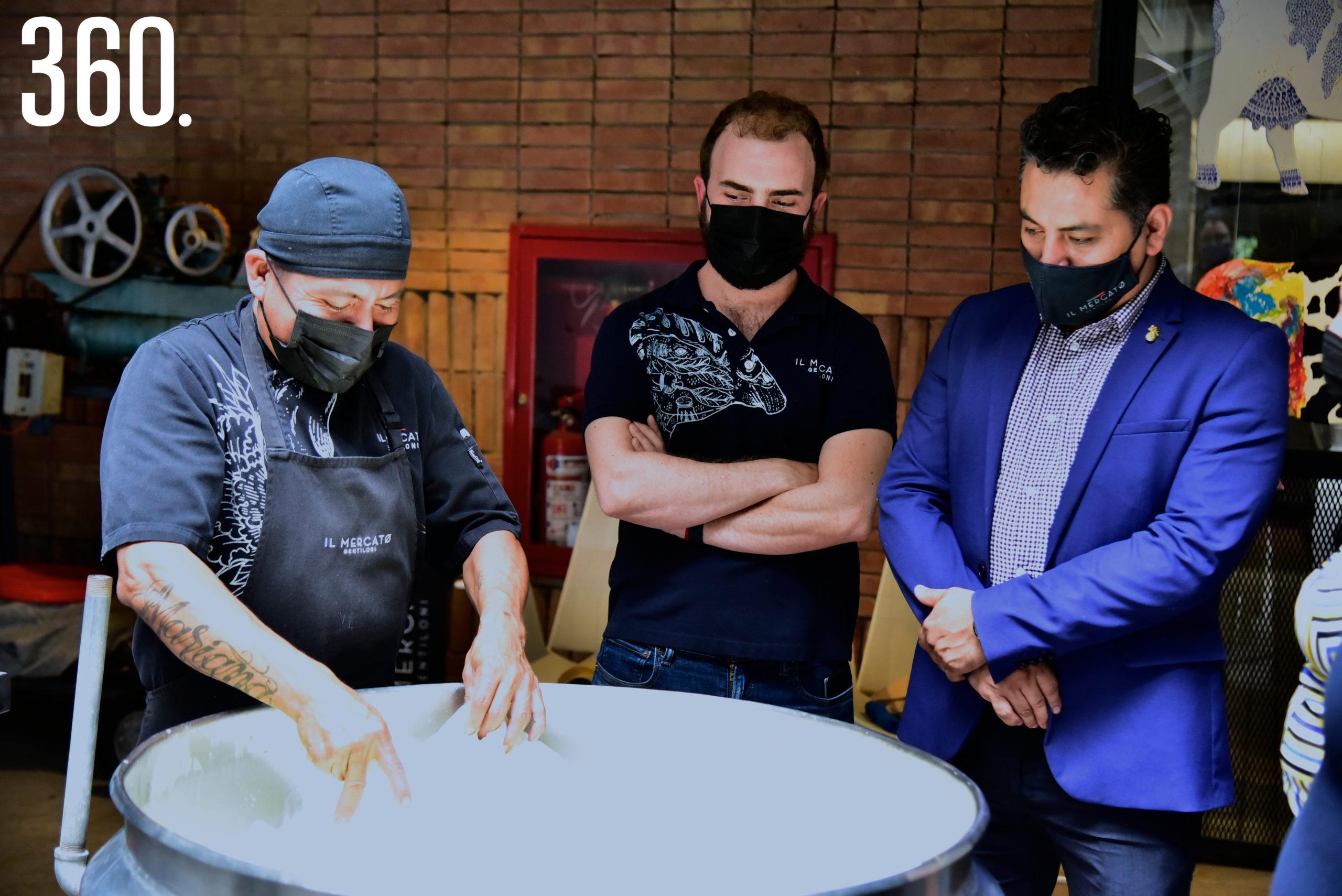 Enoch García, Pedro Gentiloni Arizpe y Javier Flores