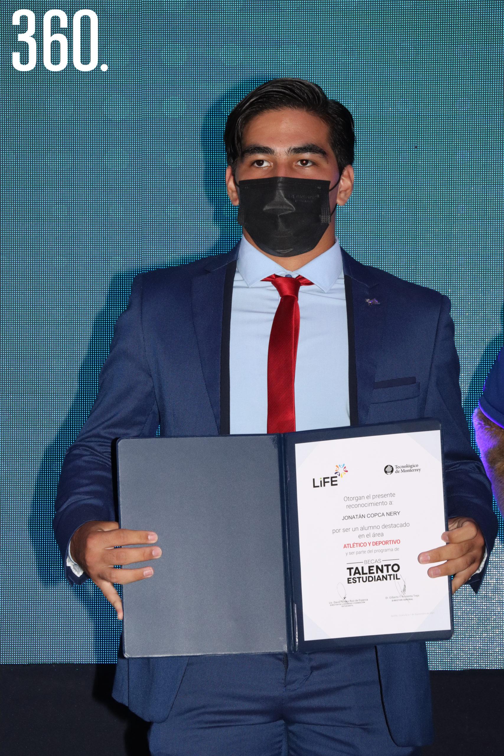 Jonatán Copca Nery Generación 2021 del área Atlético Deportivo.