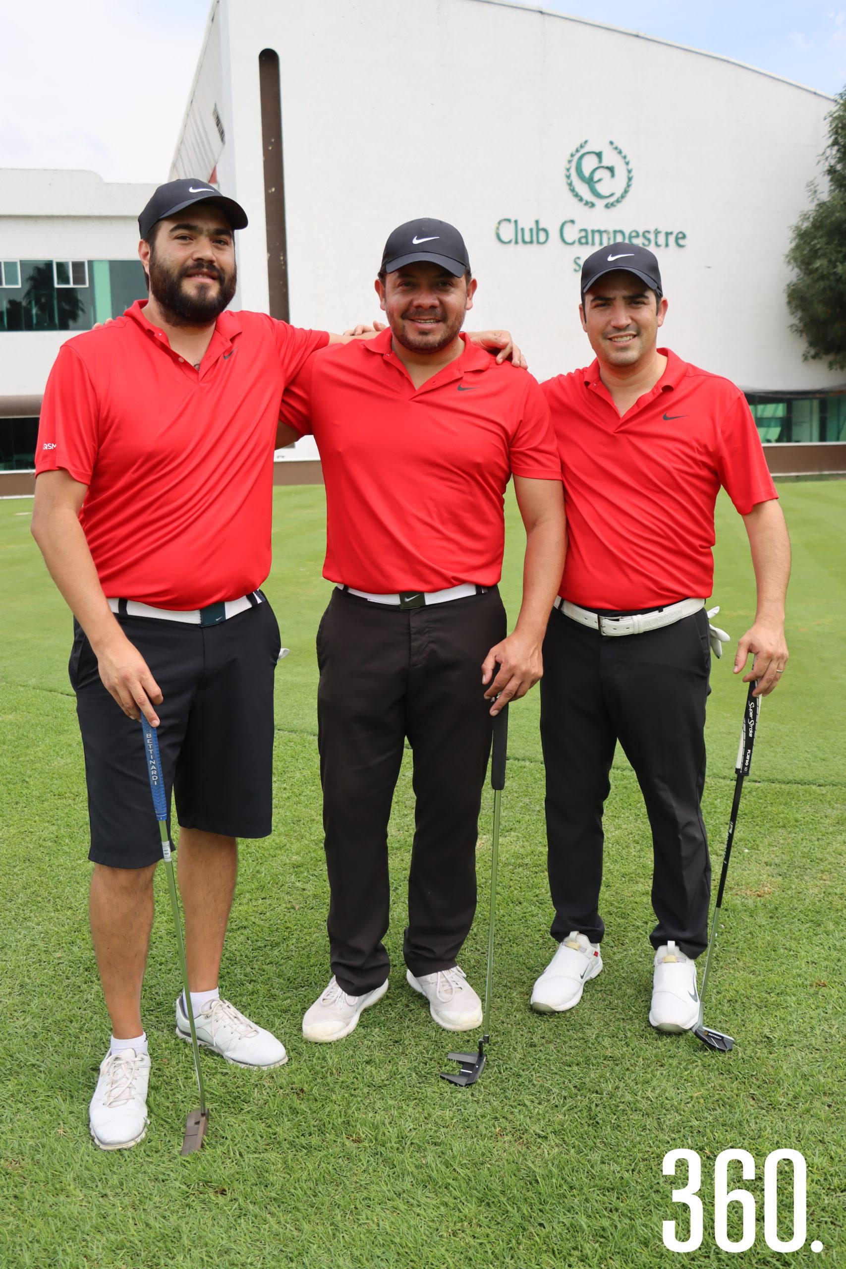 Guillermo González, Roberto Espinoza y Jesús Saro.