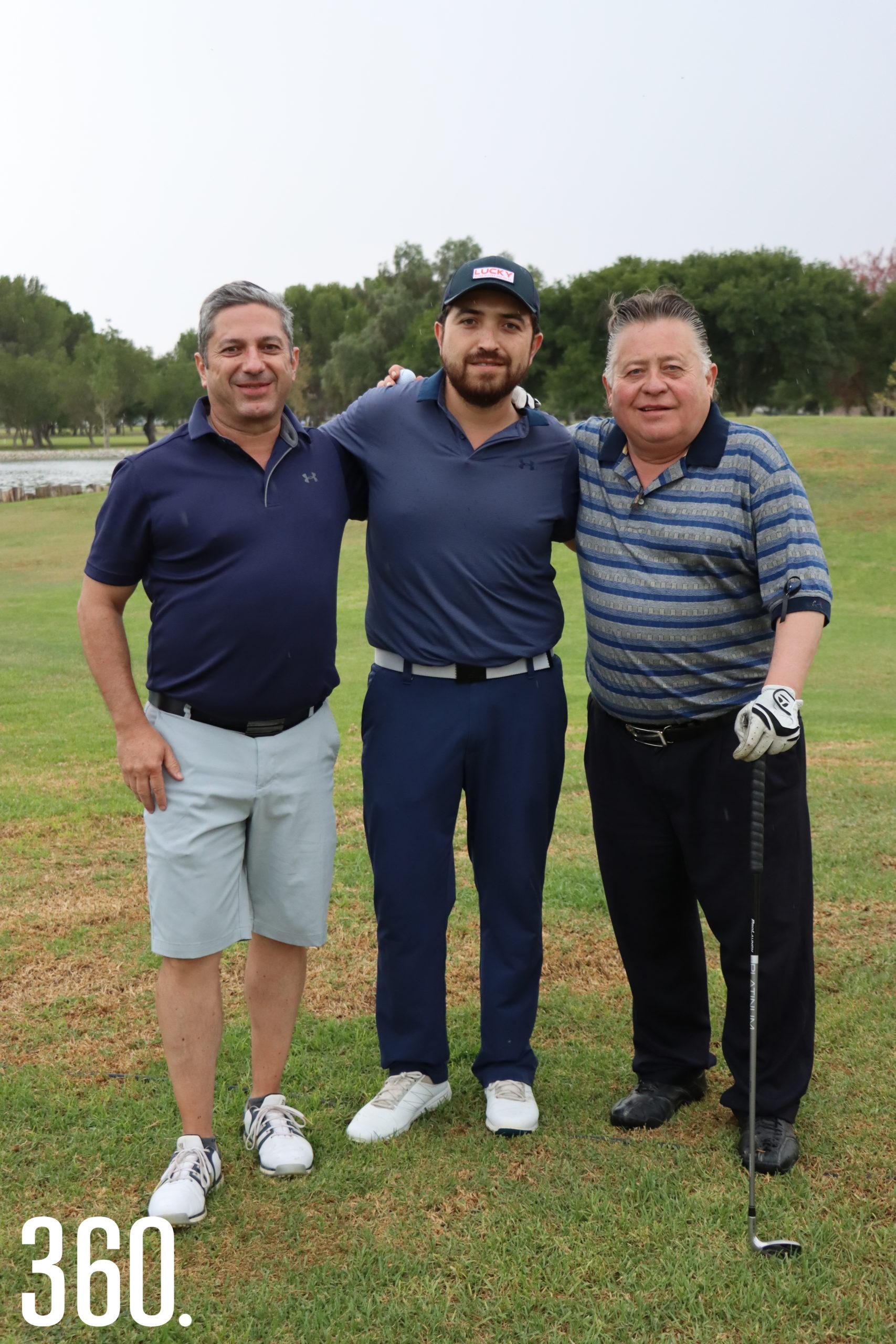 Guillermo Morales, Alfonso Lara Aguado y Alfonso Lara.