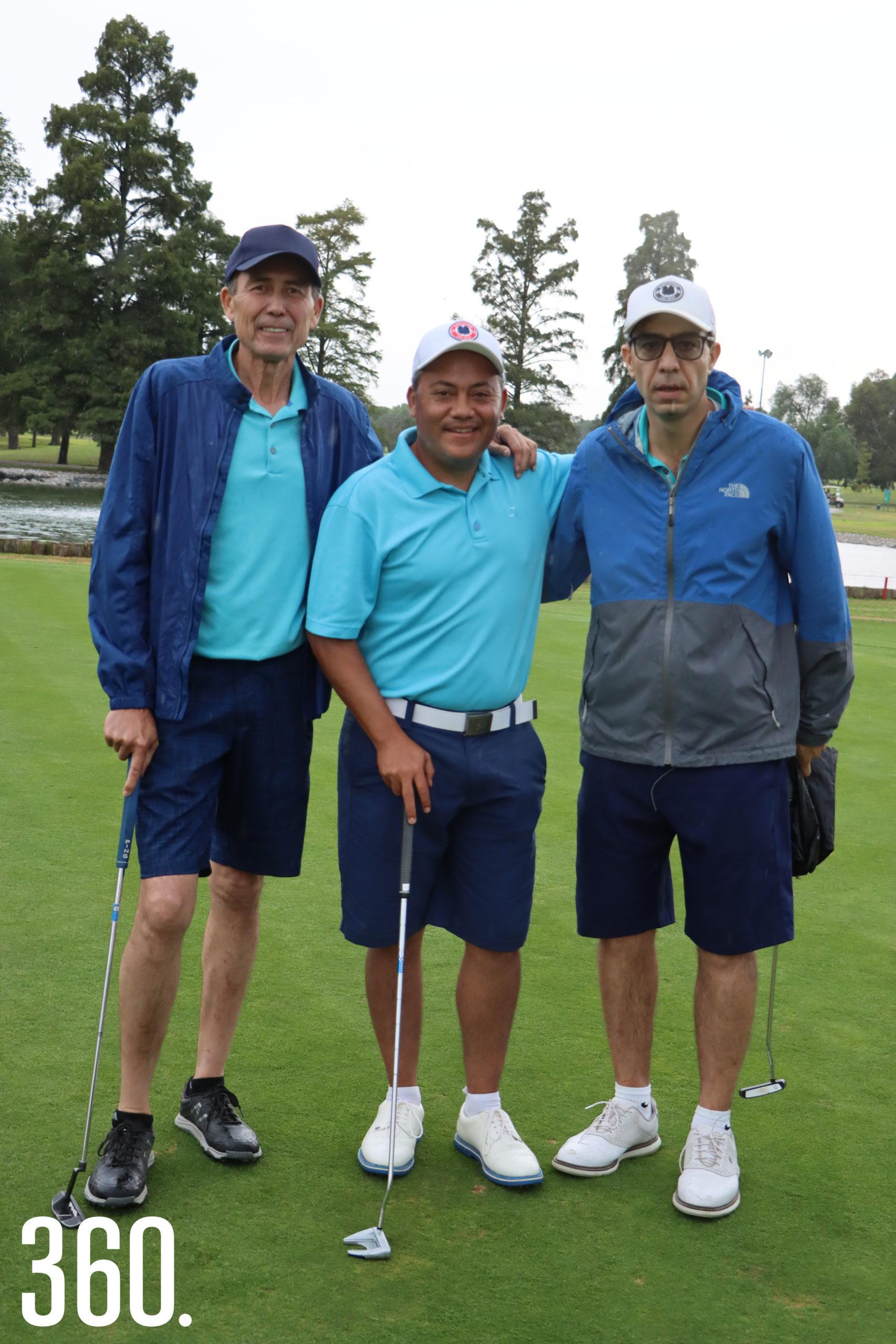Antonio Dewey, Alex Herrera y Toño Karam.