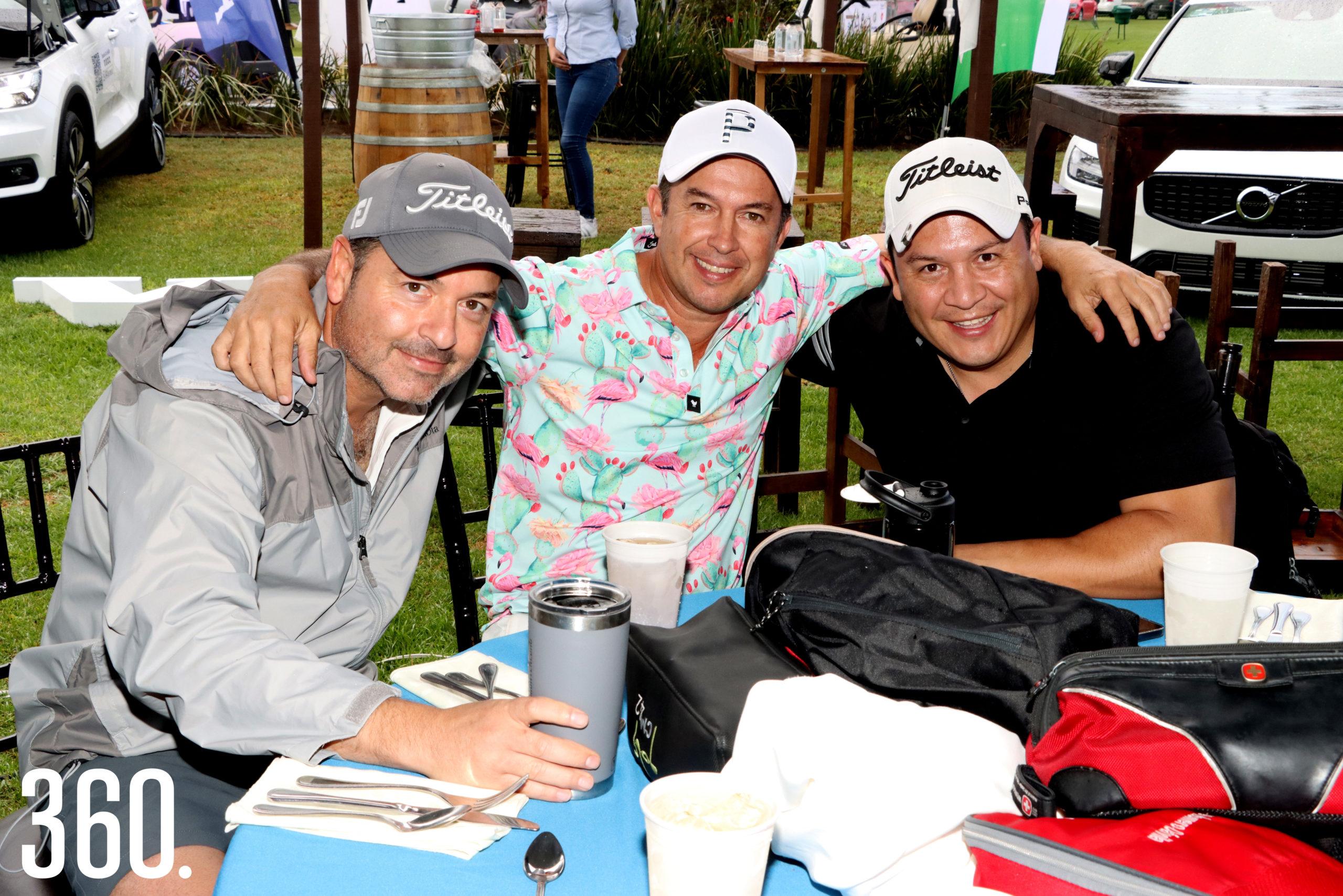 Mauricio Montenegro, Luis Fernando Valdés y Omar Siller.