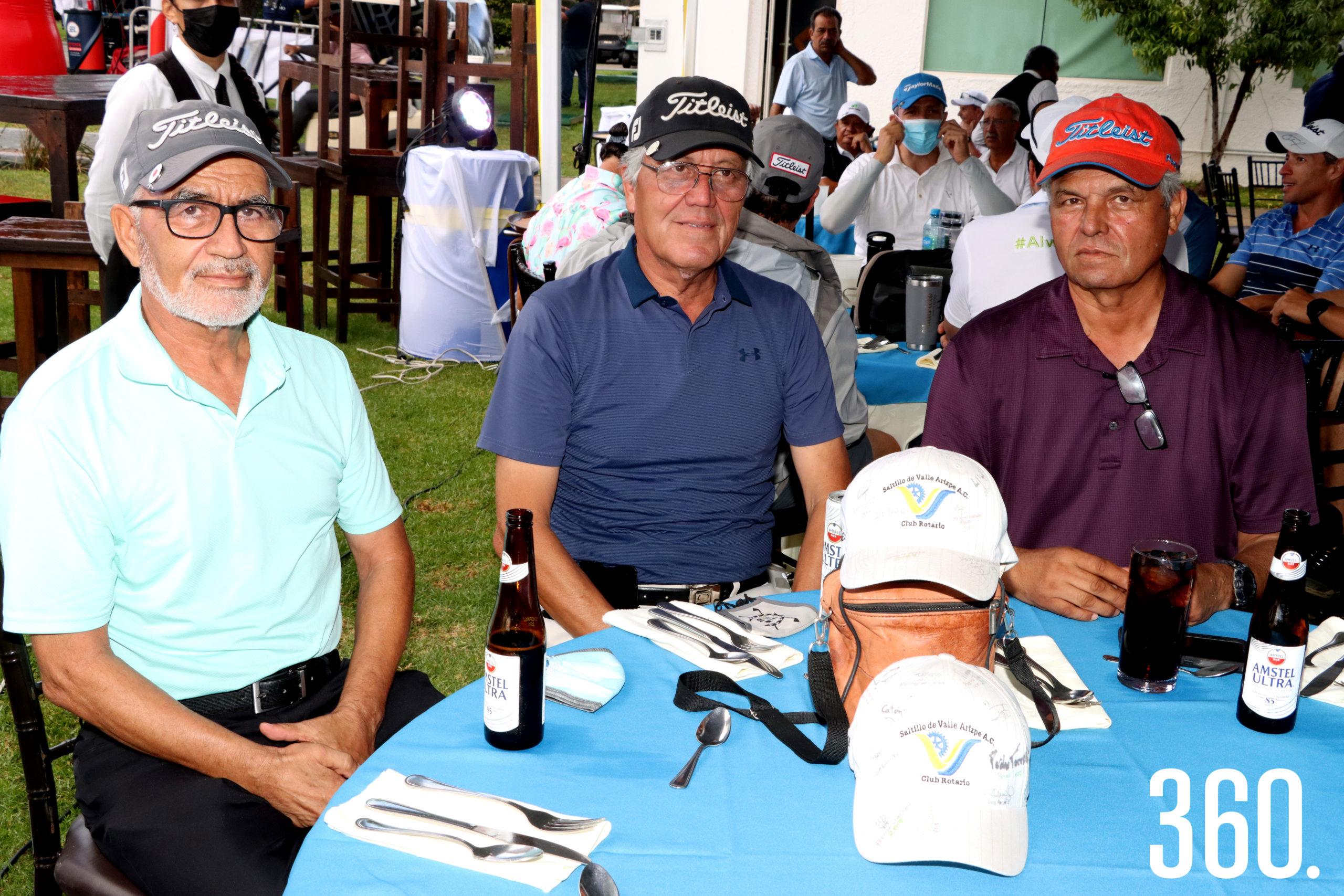 Francisco Javier, Mario y Jaime López.