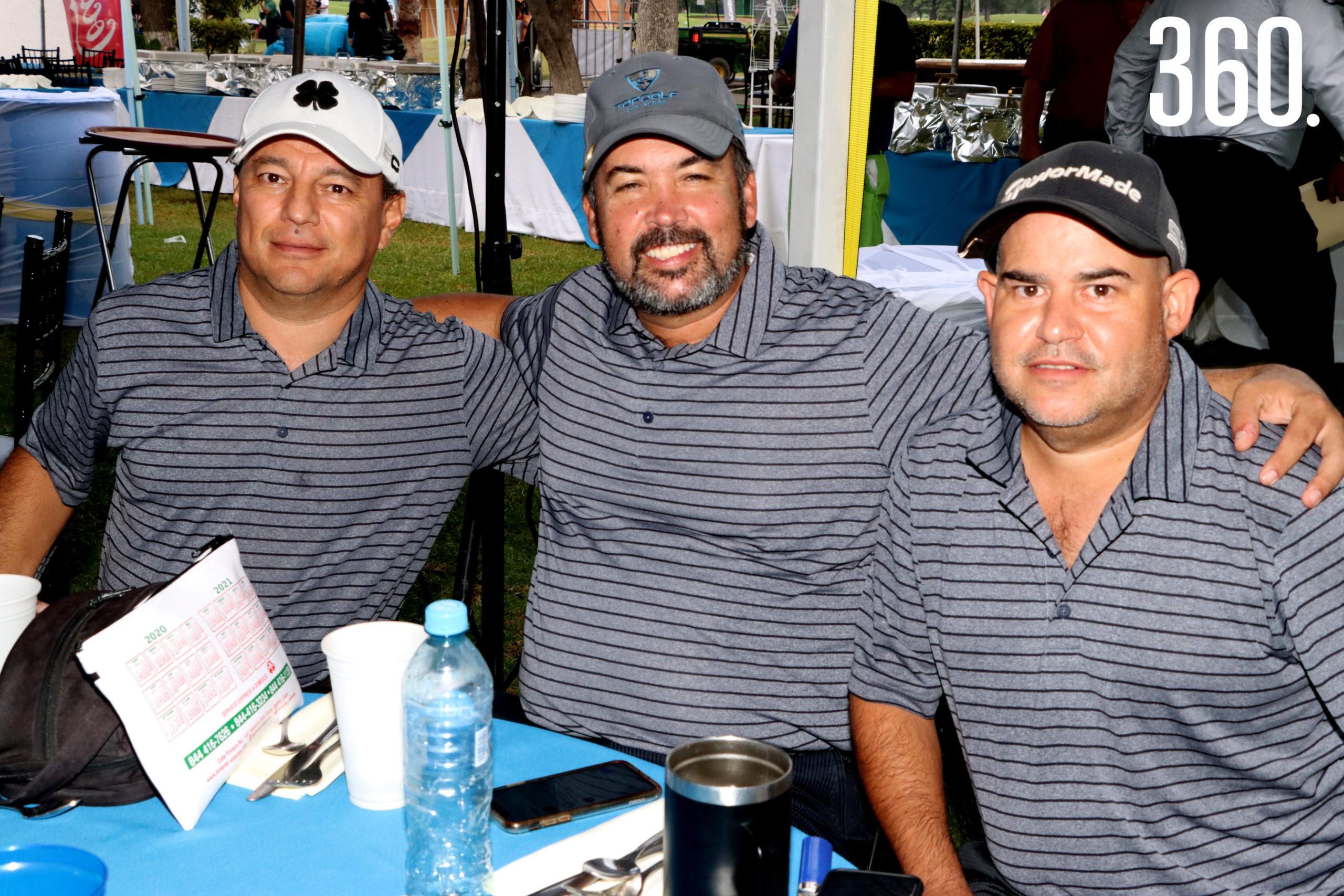 Roberto Balderas, Emerico Pedraza y Gerardo Vega.
