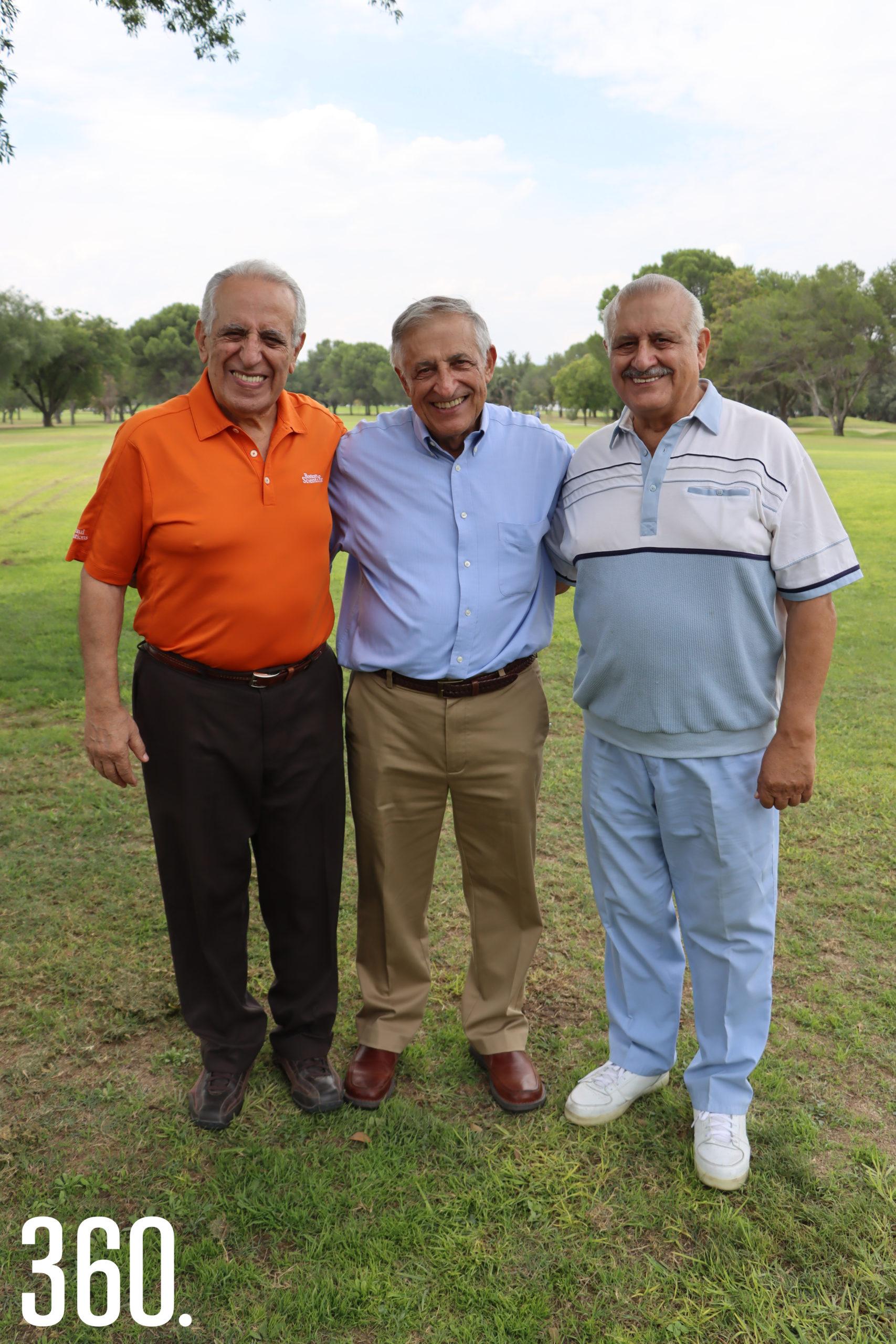 Ricardo, Carlos y Jesús Mery Milán.