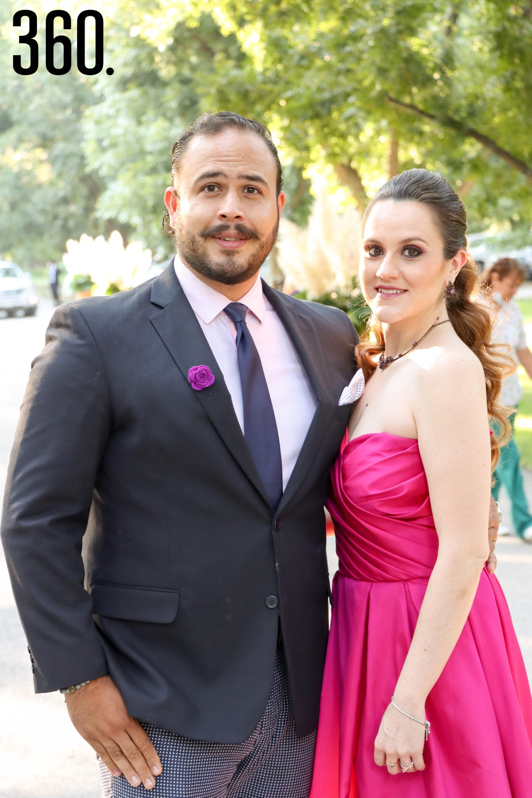 Horacio Ramírez y Daniela López.