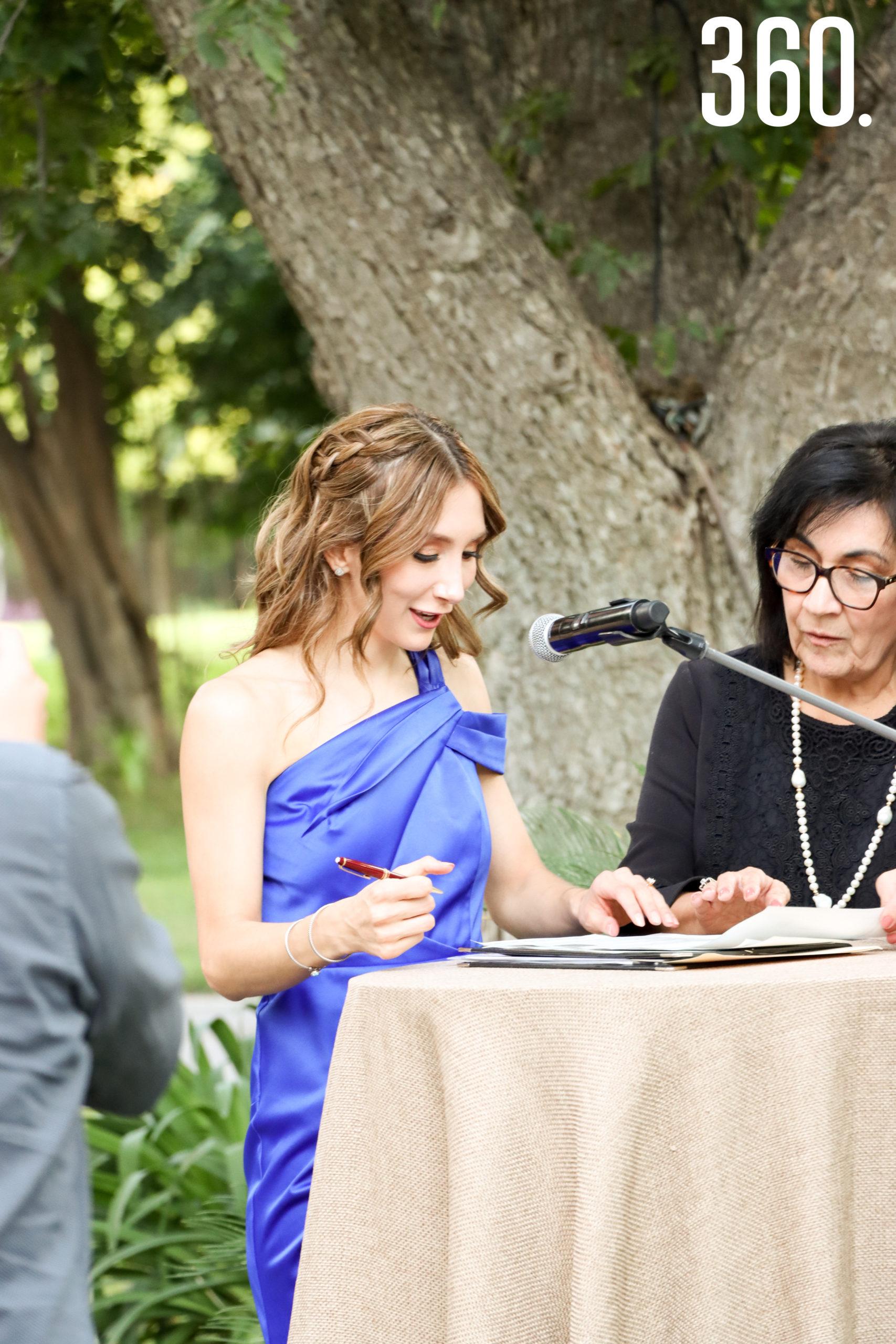 Valeria González, testigo.