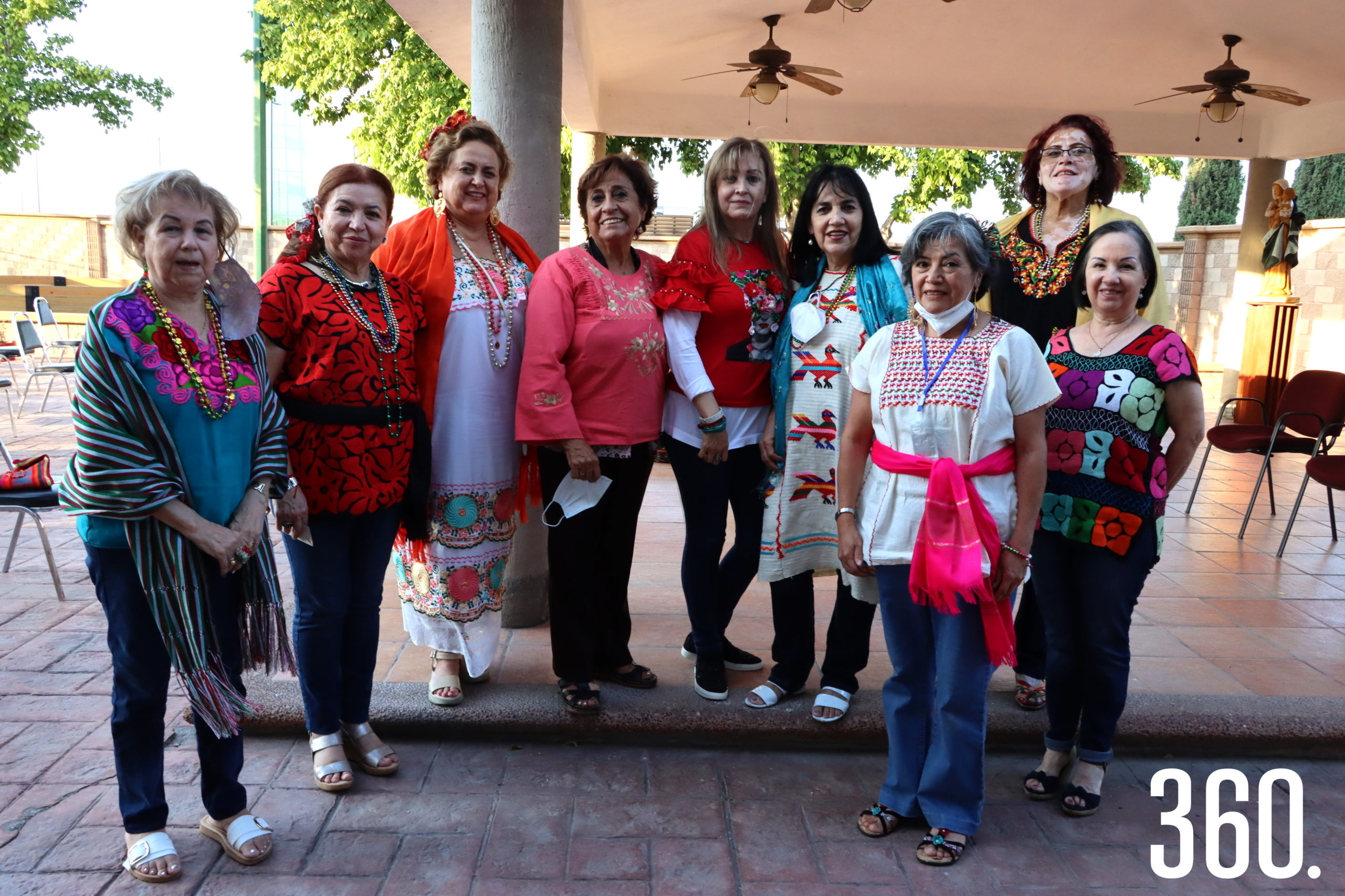 Bertha Gutiérrez, Ana María Romo, Pita Dewey, Graciela García, Gretel Barba, Martha Zertuche, Araceli Ramírez, Leticia Espinosa y Lourdes Villalón.