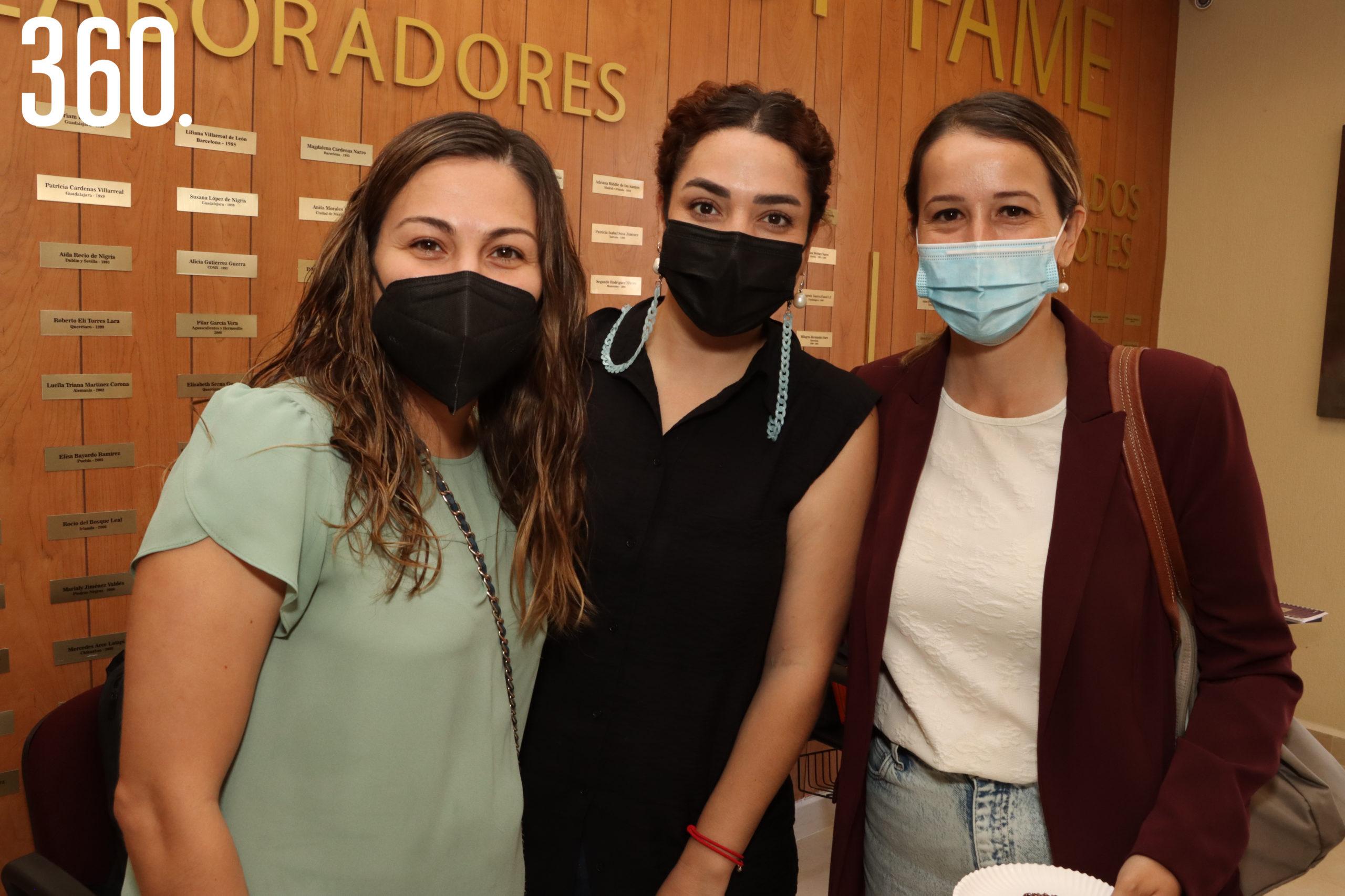 Daniela Aguirre, Marifer Saro y Tamara Valdés.