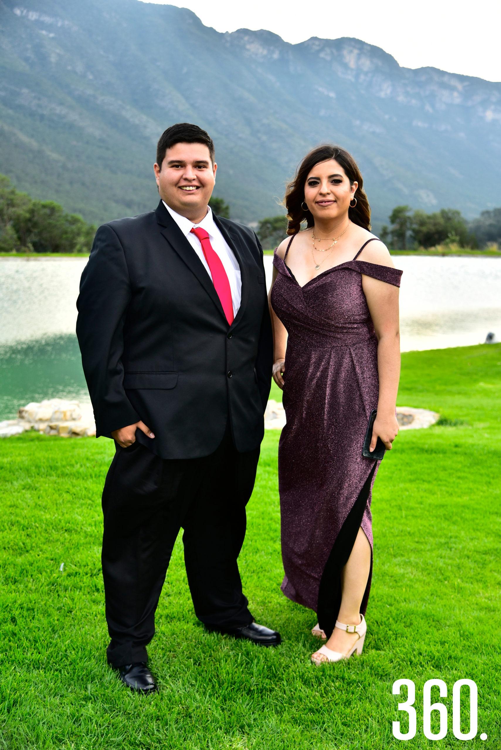 Gerardo de la Garza y Berenice Terrazas.