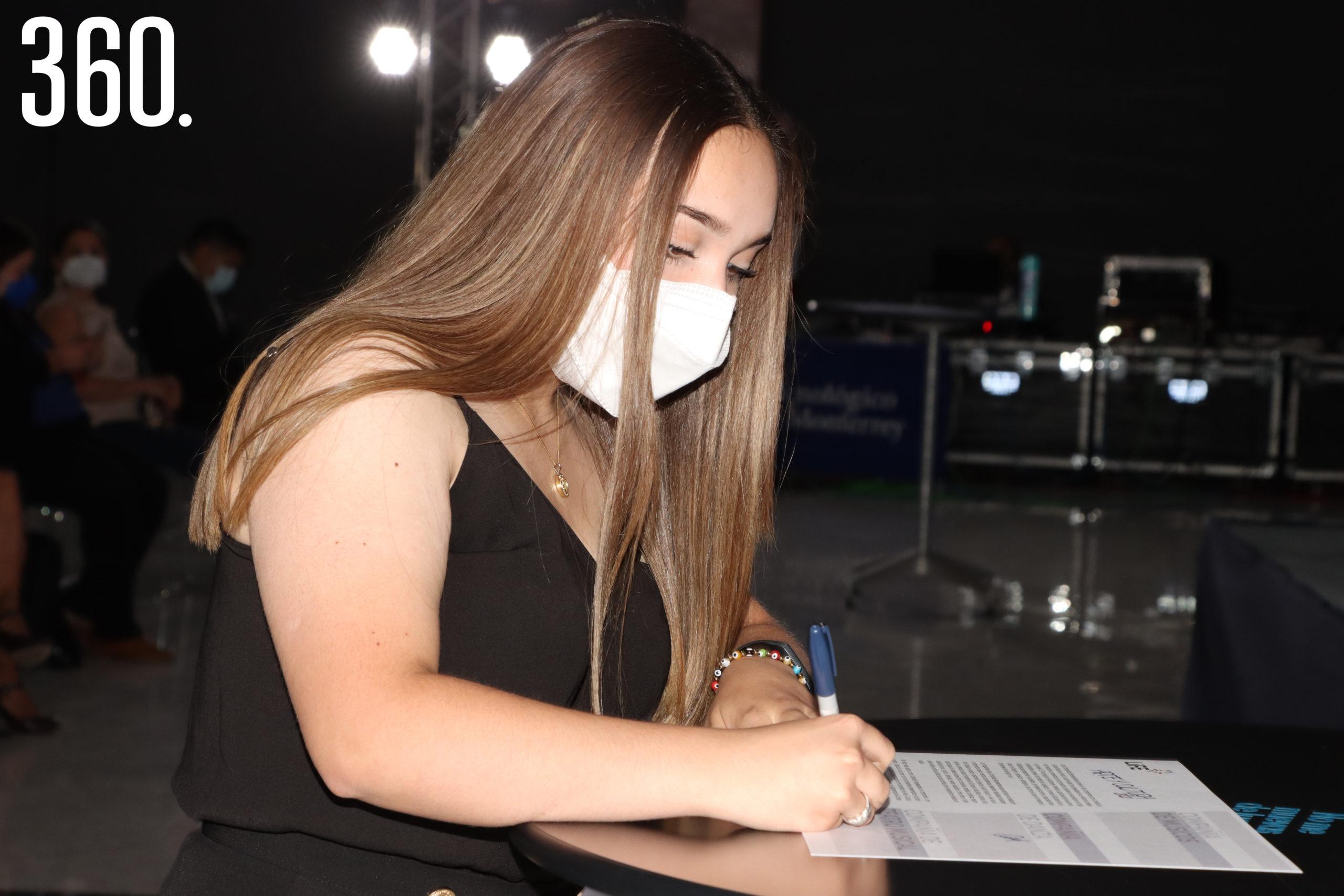 Ana Ibarra de la Compañía de Teatro.