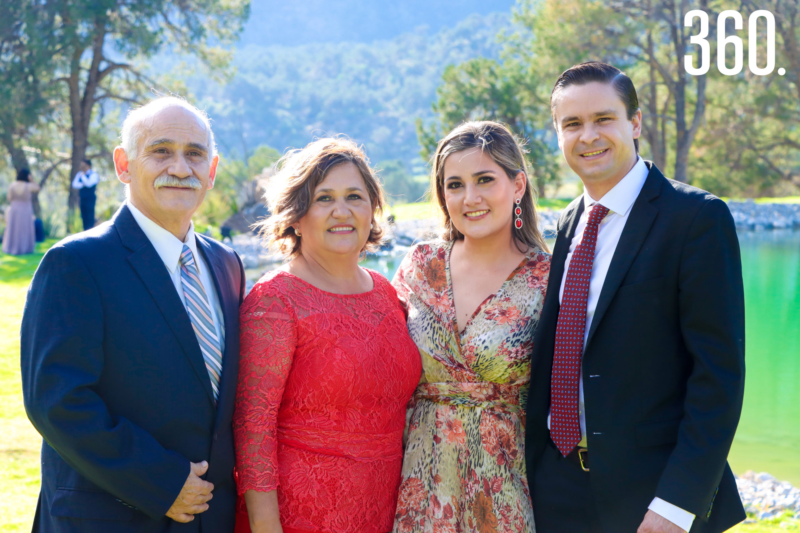 René Moreira, Alejandra Arredondo, Gabriela Moreira y Héctor Lozano.