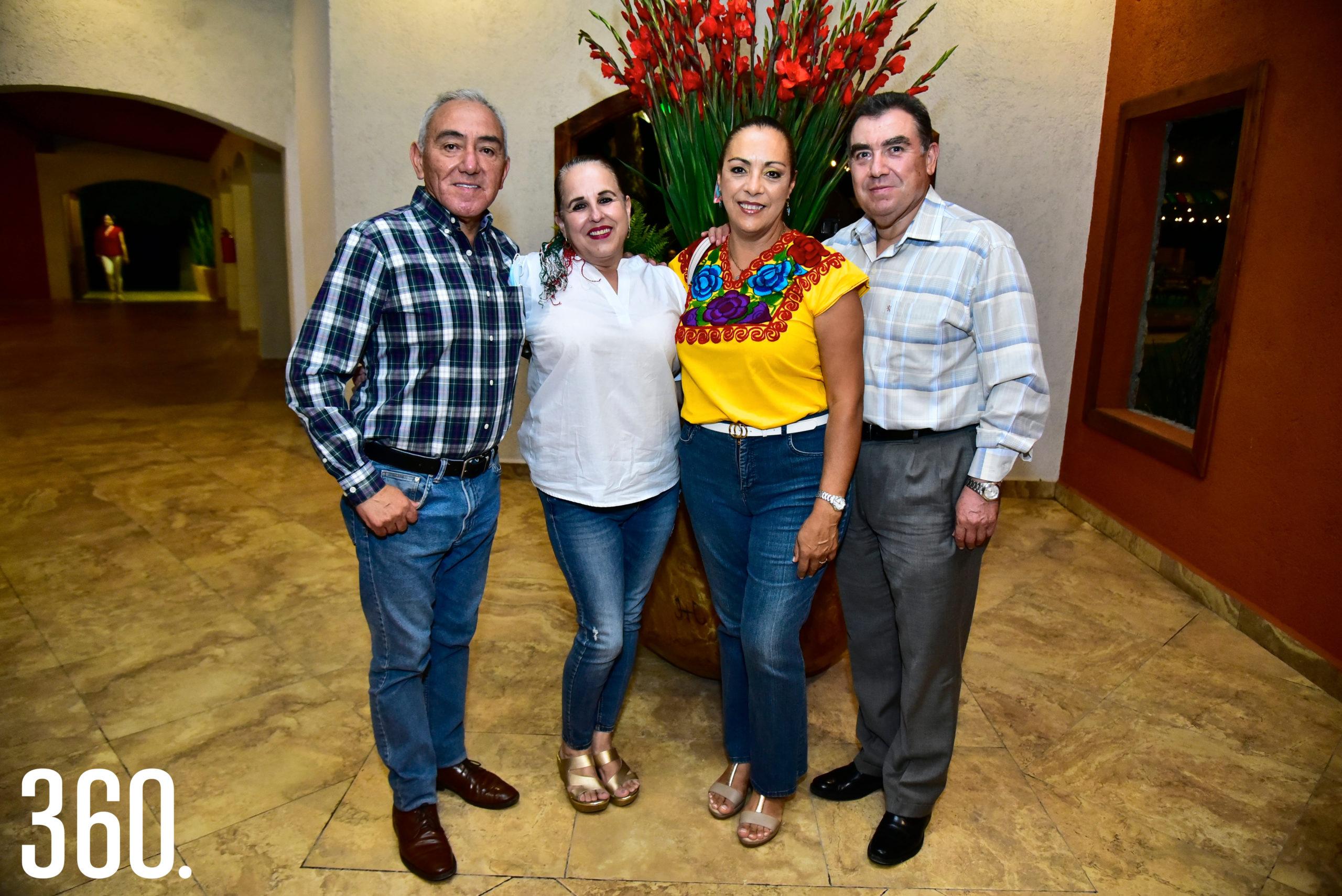 Javier Ramírez, Artemisa Ortegón, Luz Elena Berrueto y Arnoldo Molina.