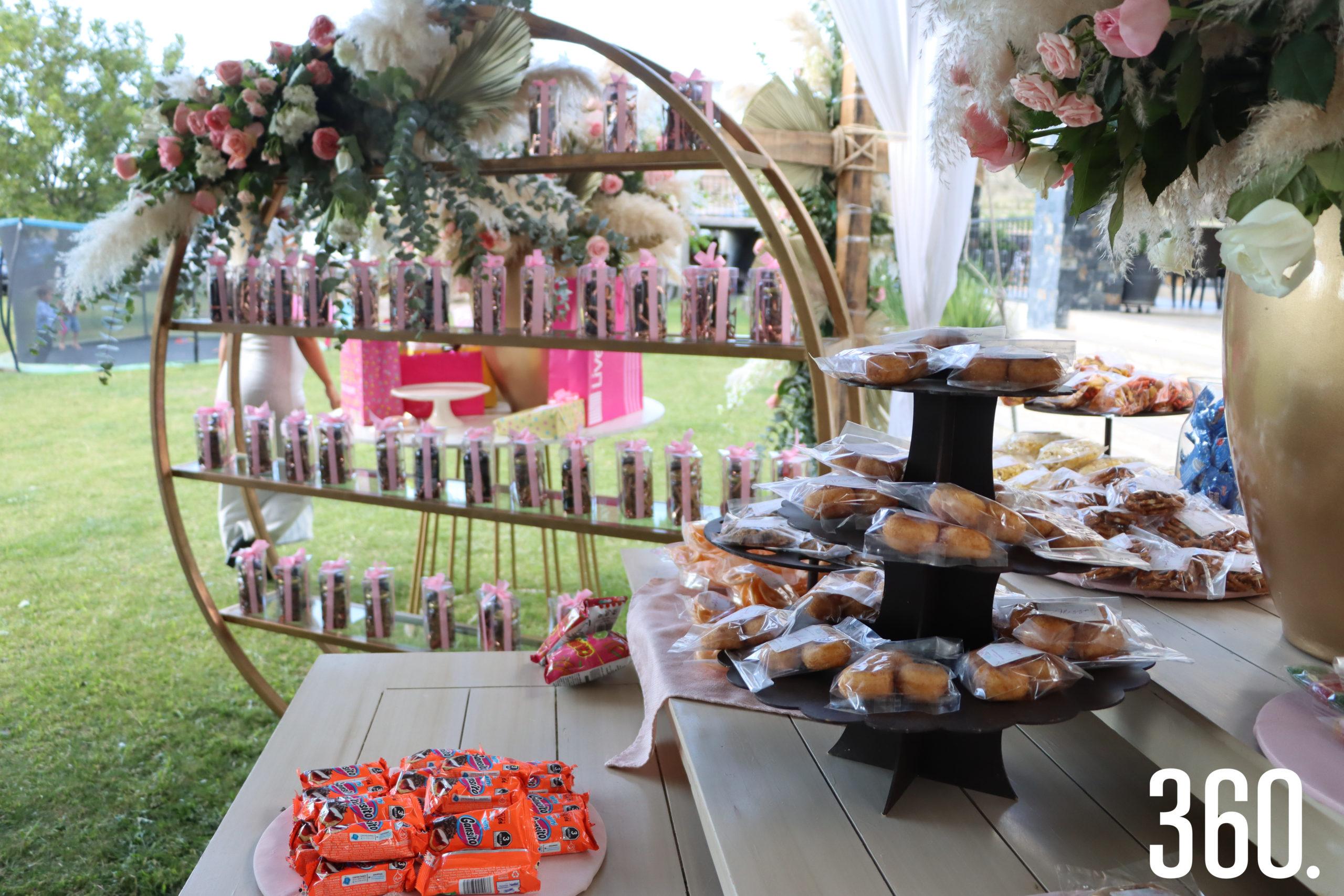 High Lighs adornos y mesa principal.
