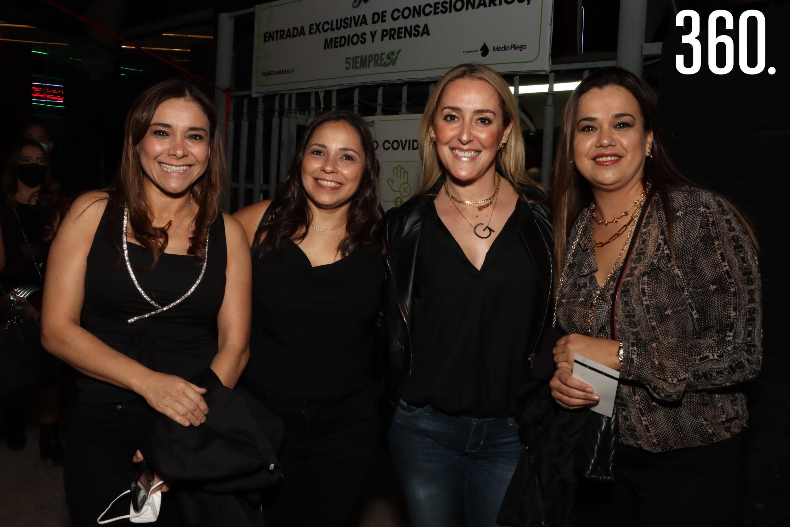 Claudia Horta, Carolina García, Grace Alemán y Lucía Aguilar.