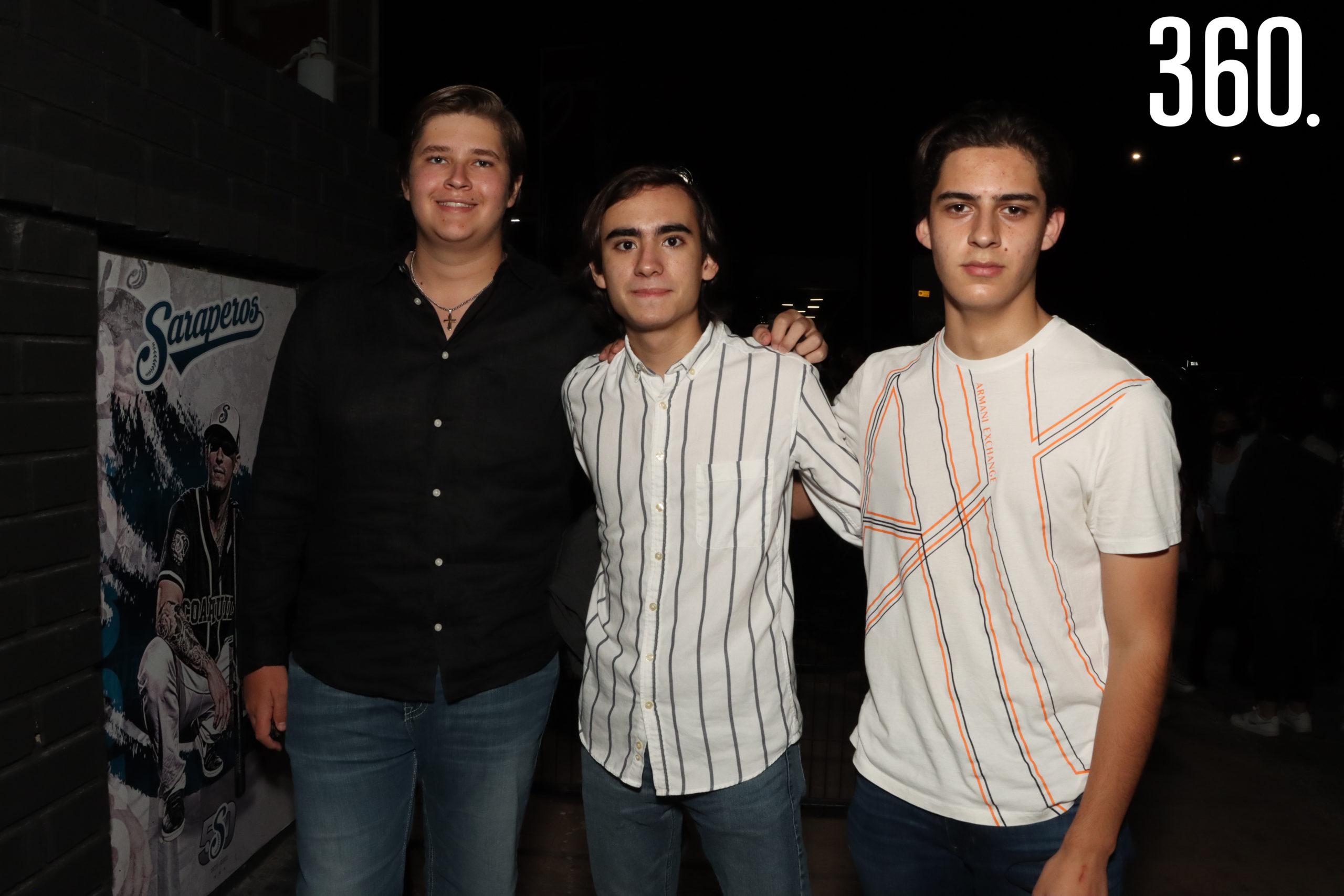 José Pablo Palacios, José de Valle y Alejandro Oviedo.
