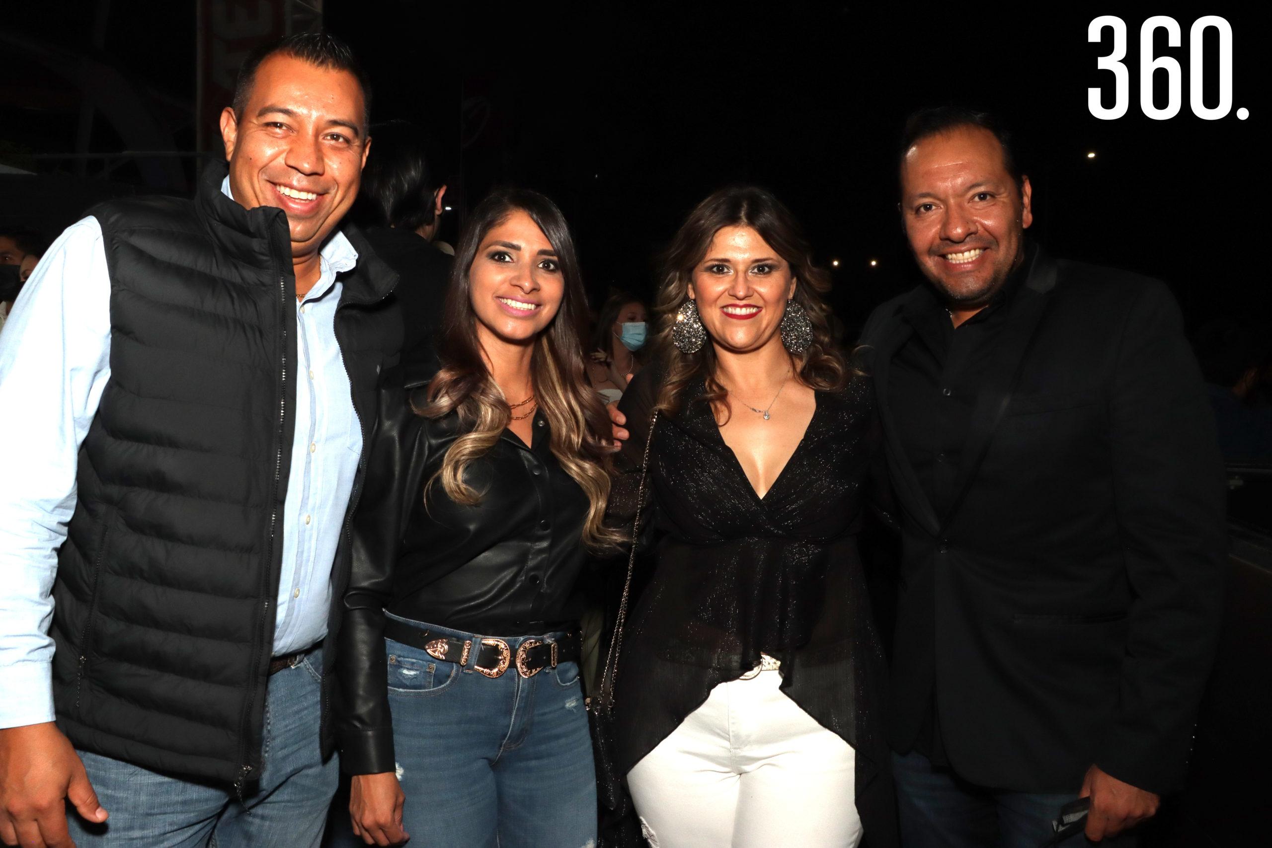 Mario Aguirre, Daysi Valdés, Lety Delgado y Alfonso López.
