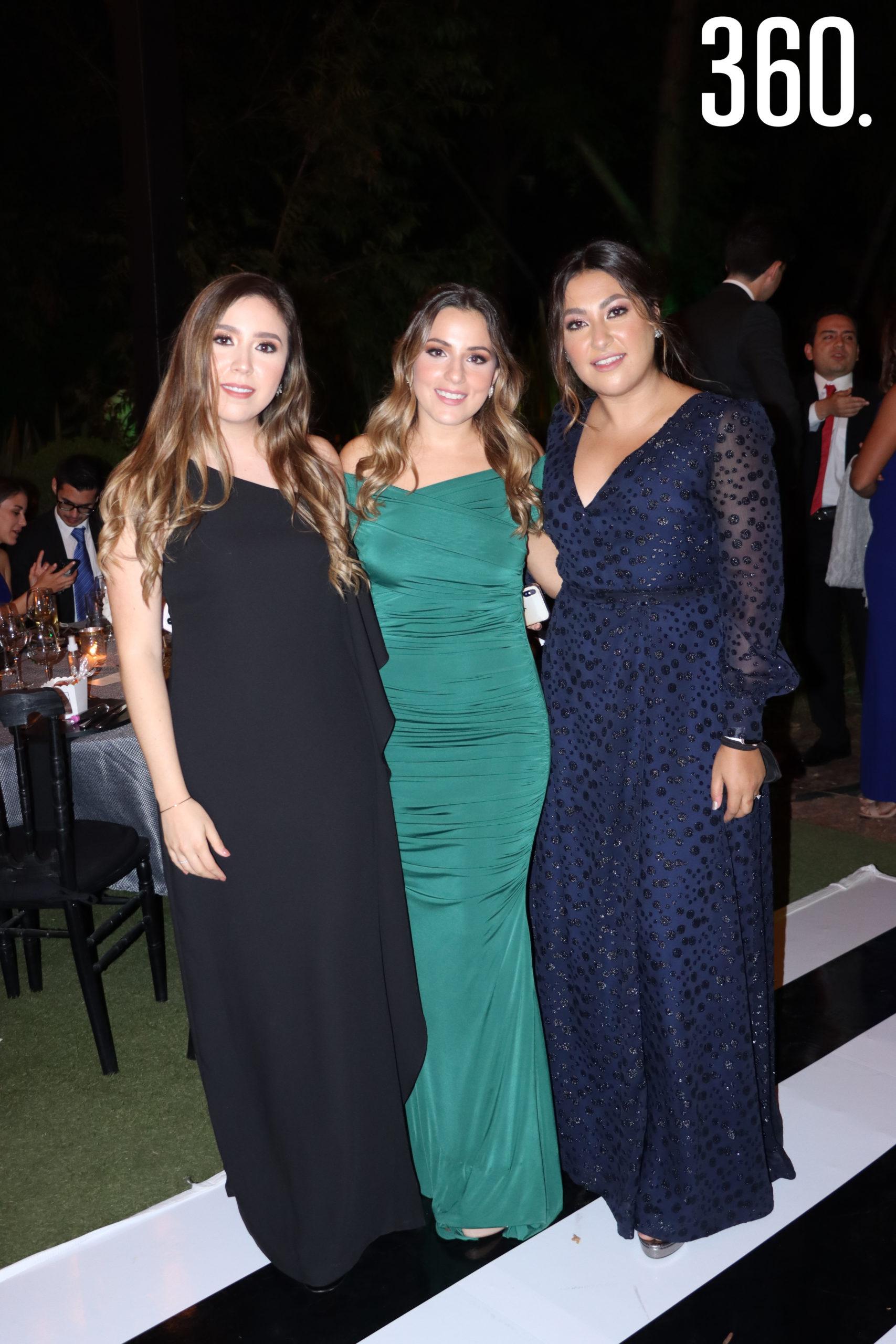 Alejandra Sandoval, Ana Karen Salinas y Lorena Dávila.