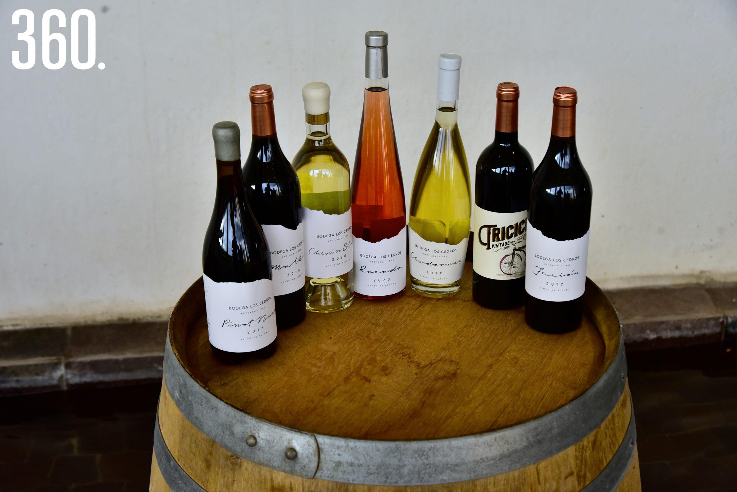 Variedad de vinos.