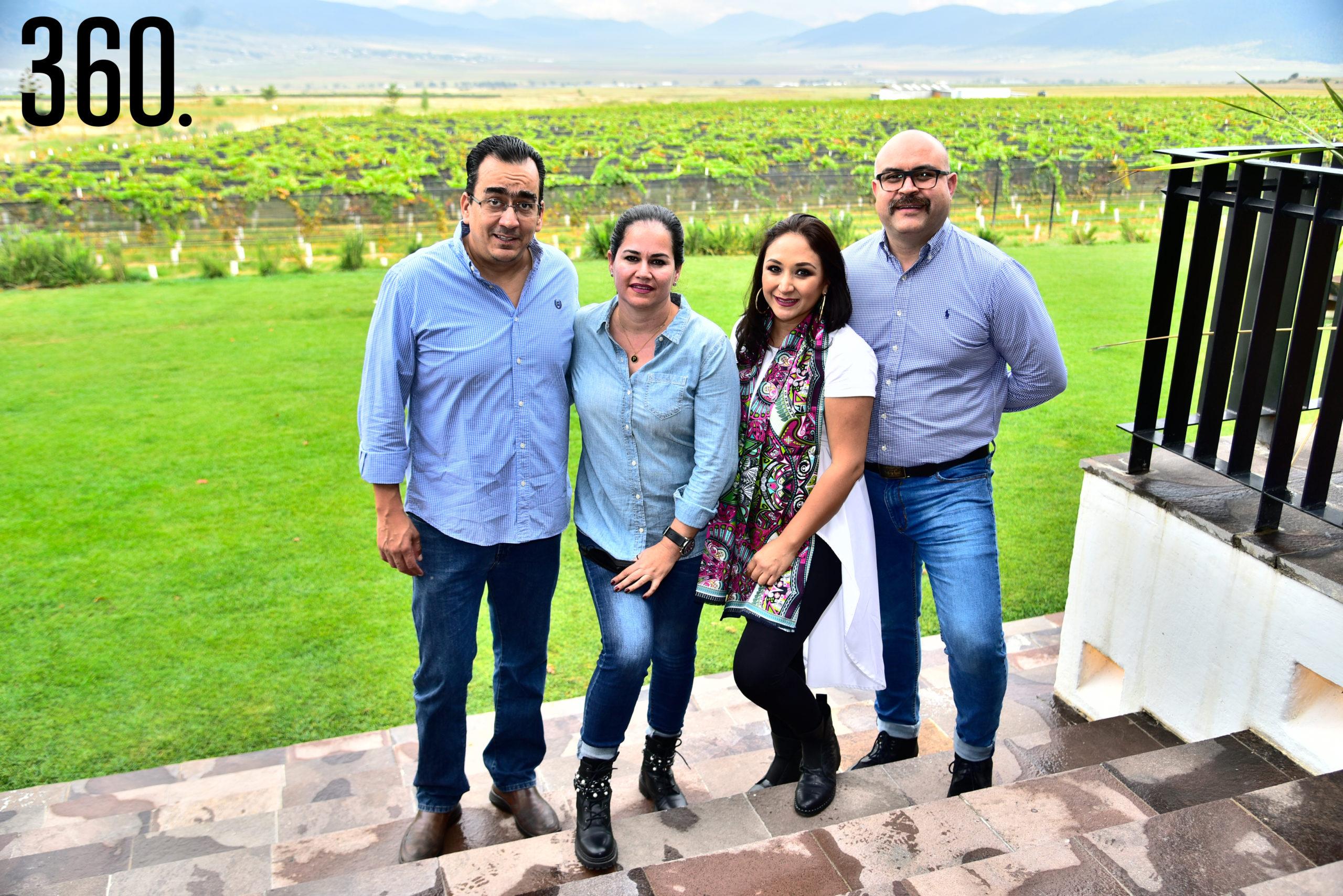 Héctor Gómez, Pamela Aguirre, Mayra García y Jorge Aguilar.