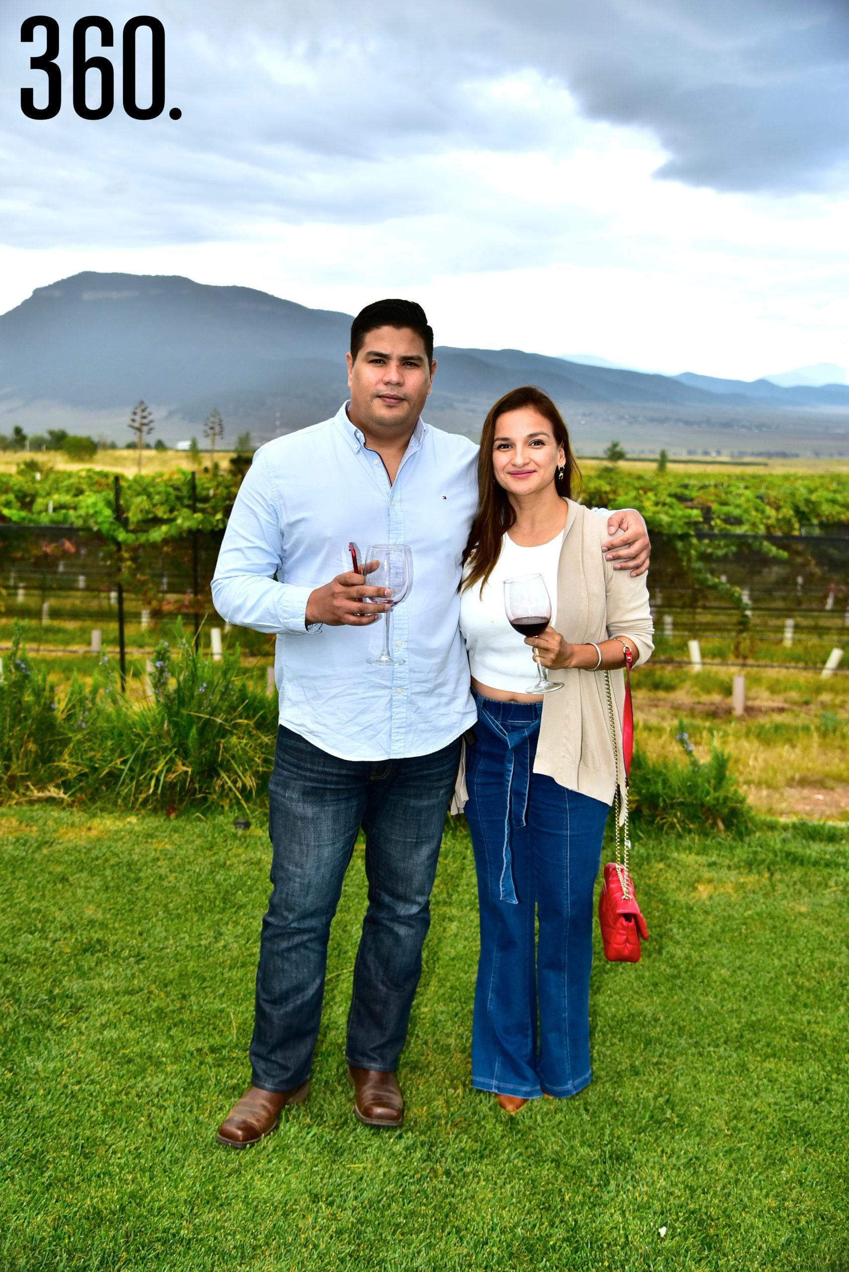 Luis Navarro y Rebeca Ferra.