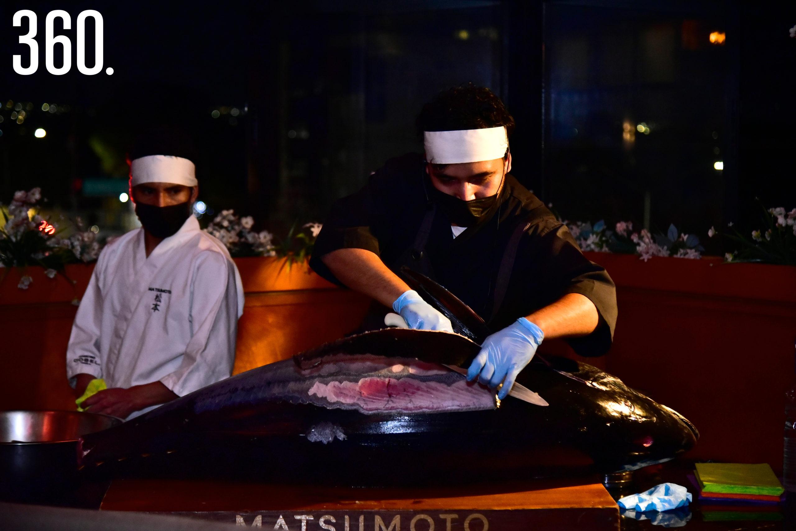 El atún, estrella del evento en Matsumoto.