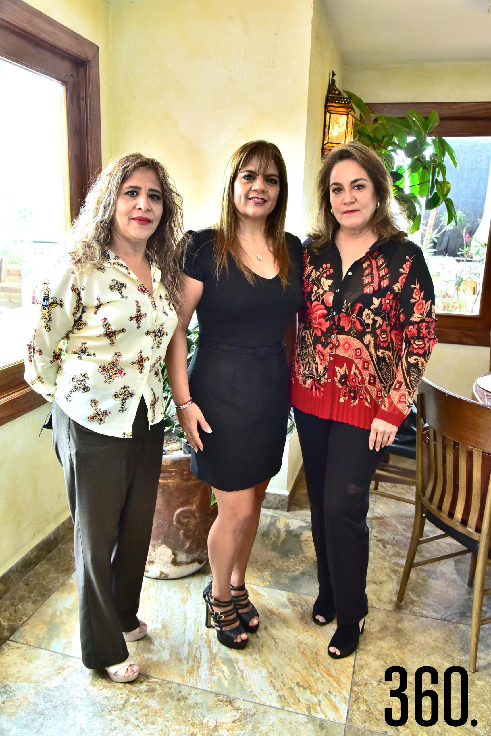 Carmen Hernández, Verónica Torres y Norma de Dávila.