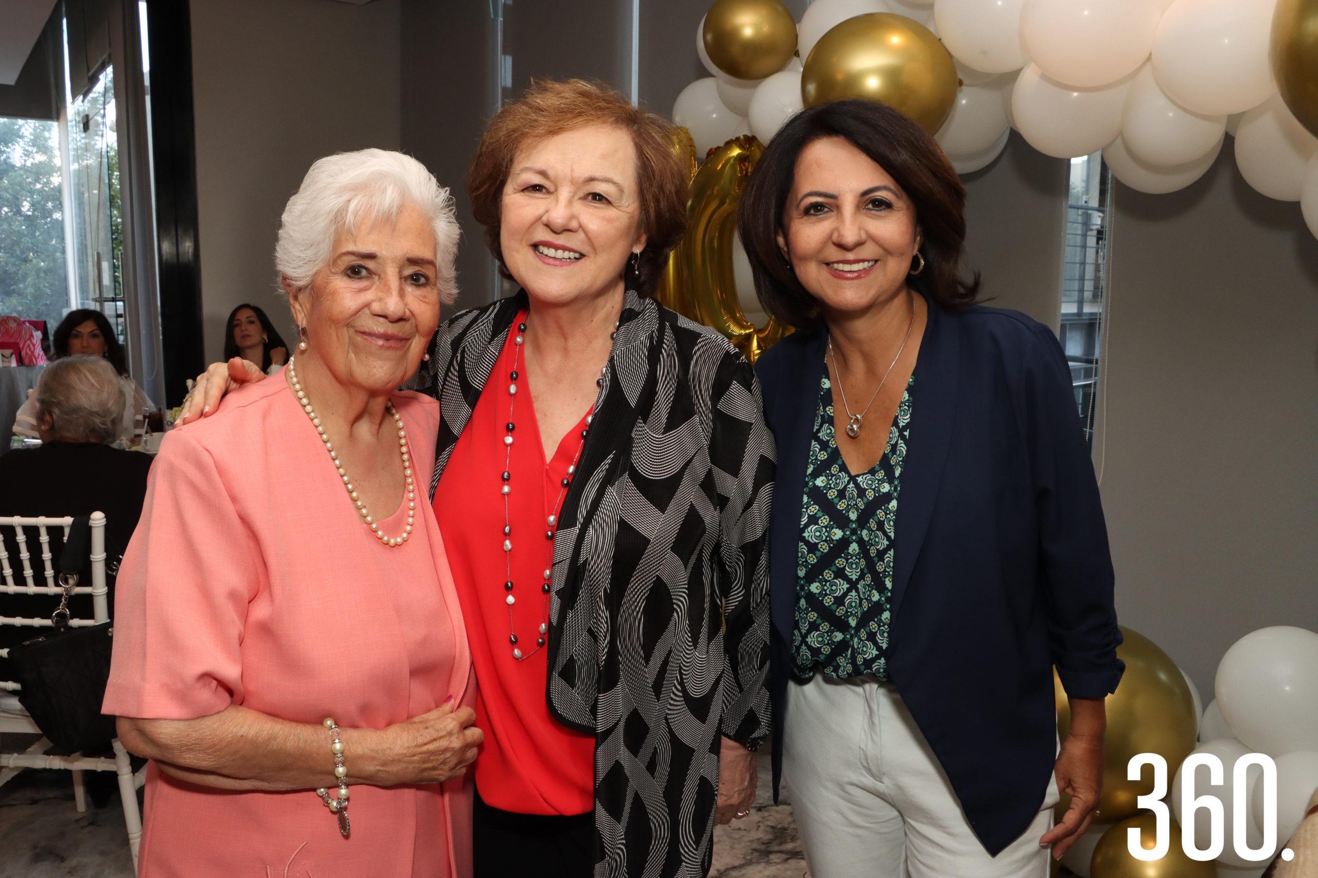 Carmela Padilla Garza, Rosario Garza Recio y Martha Elena Durón.