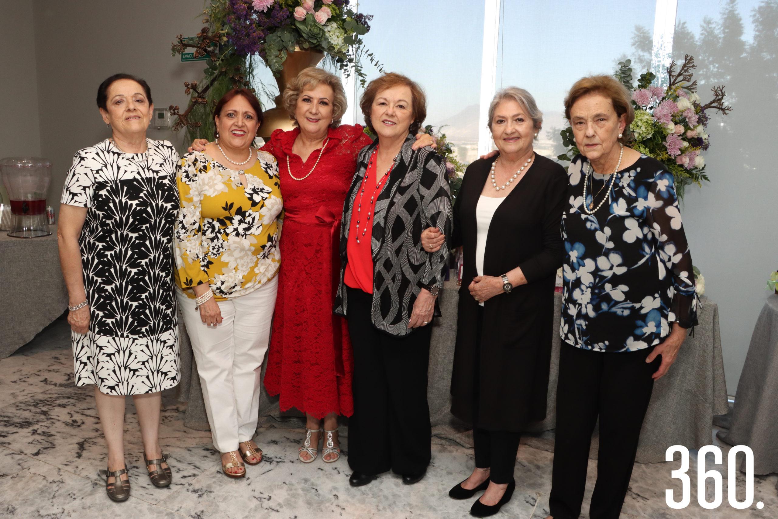 María Teresa Garza, Nelly Dávila, Mina Garza, Rosario Garza, Gloria Recio y Yolanda Cepeda.